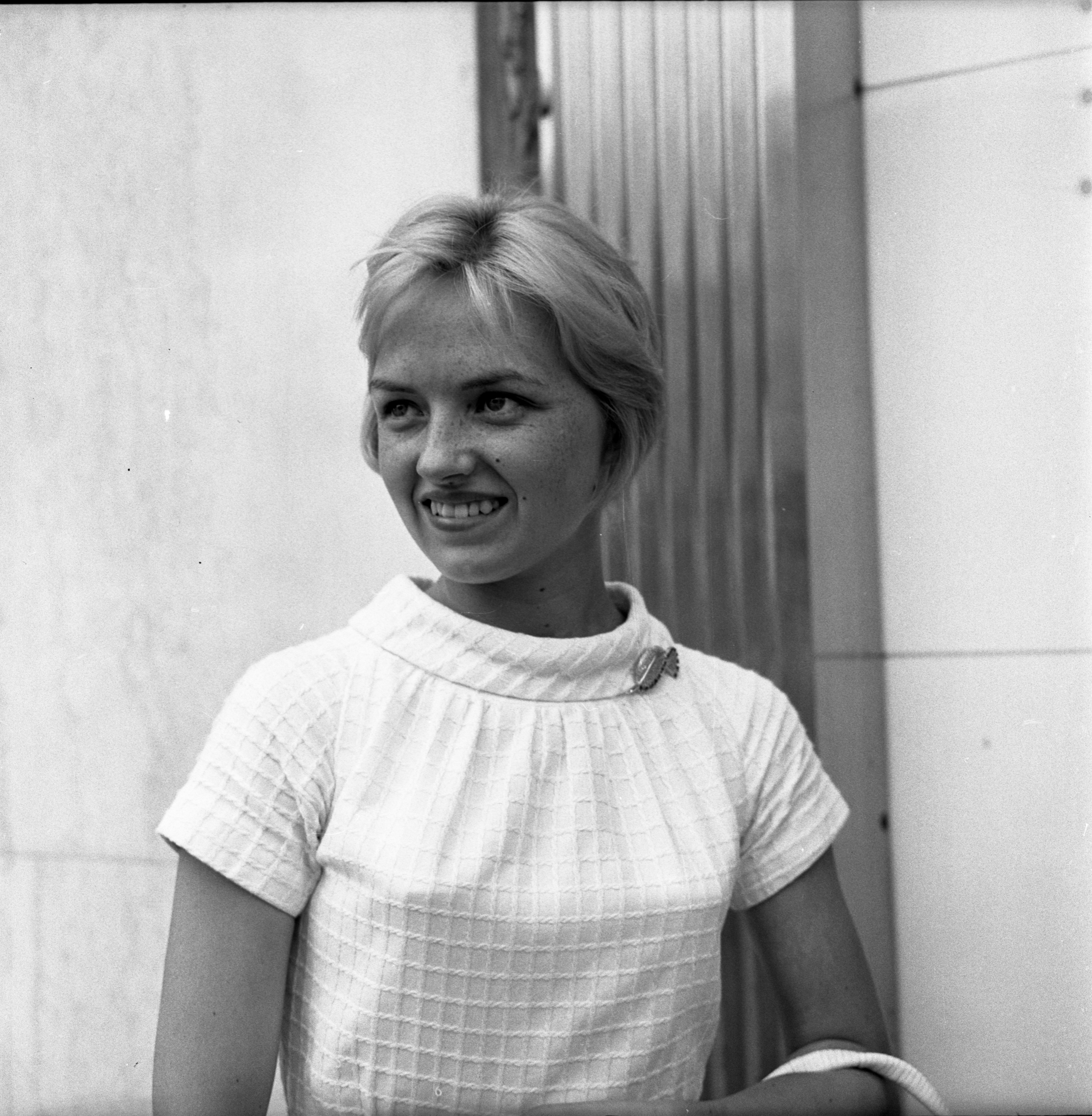 Portrait Of Pamela Bragan For Person On Street Interview About Dealing With Hot Weather, June 29, 1963 image
