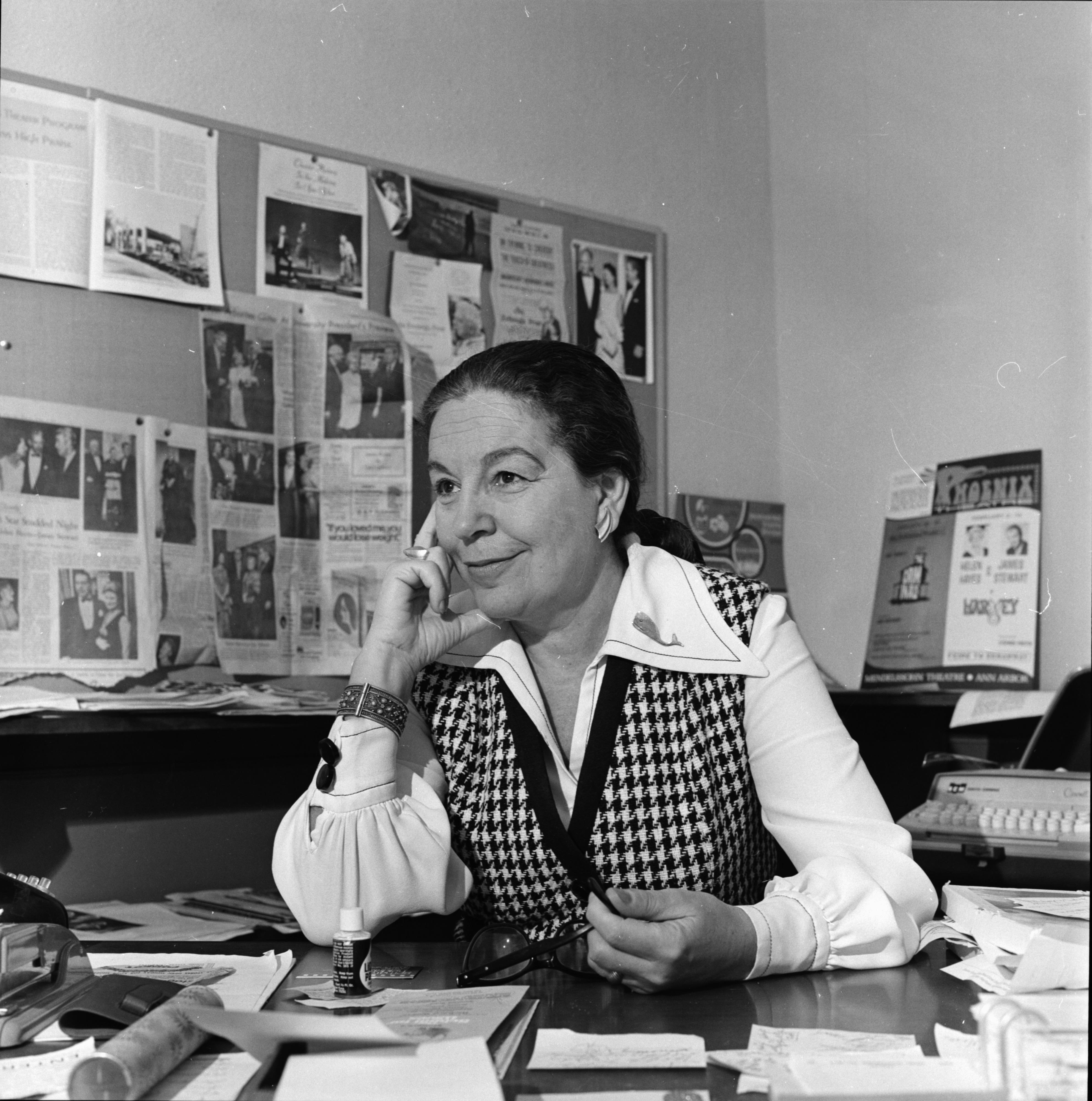 Marcella Cisney, director of the Professional Theater Program at the University of Michigan, December 1970 image