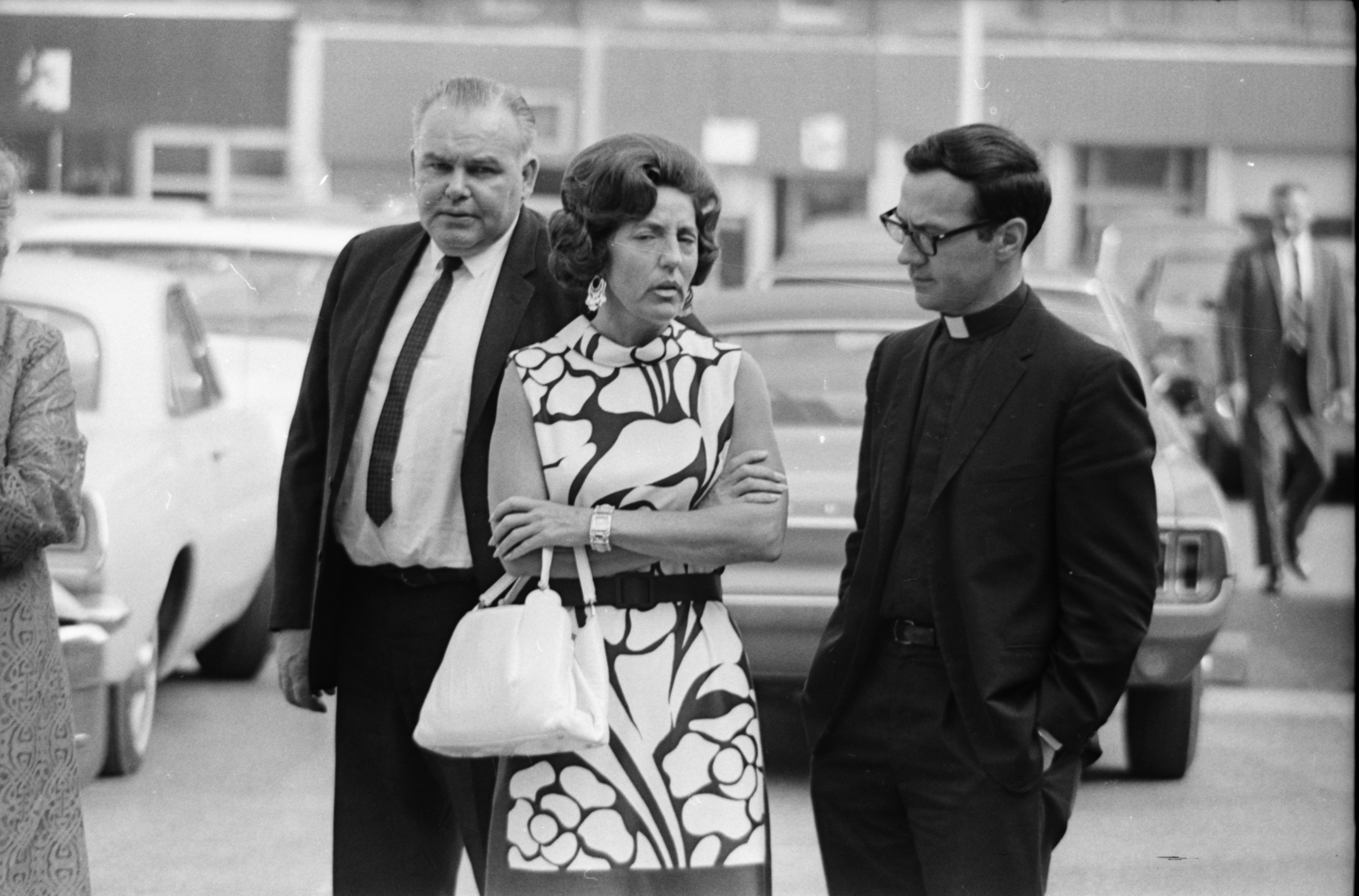 Loretta Collins Outside Trial of her Son, John Norman Collins image