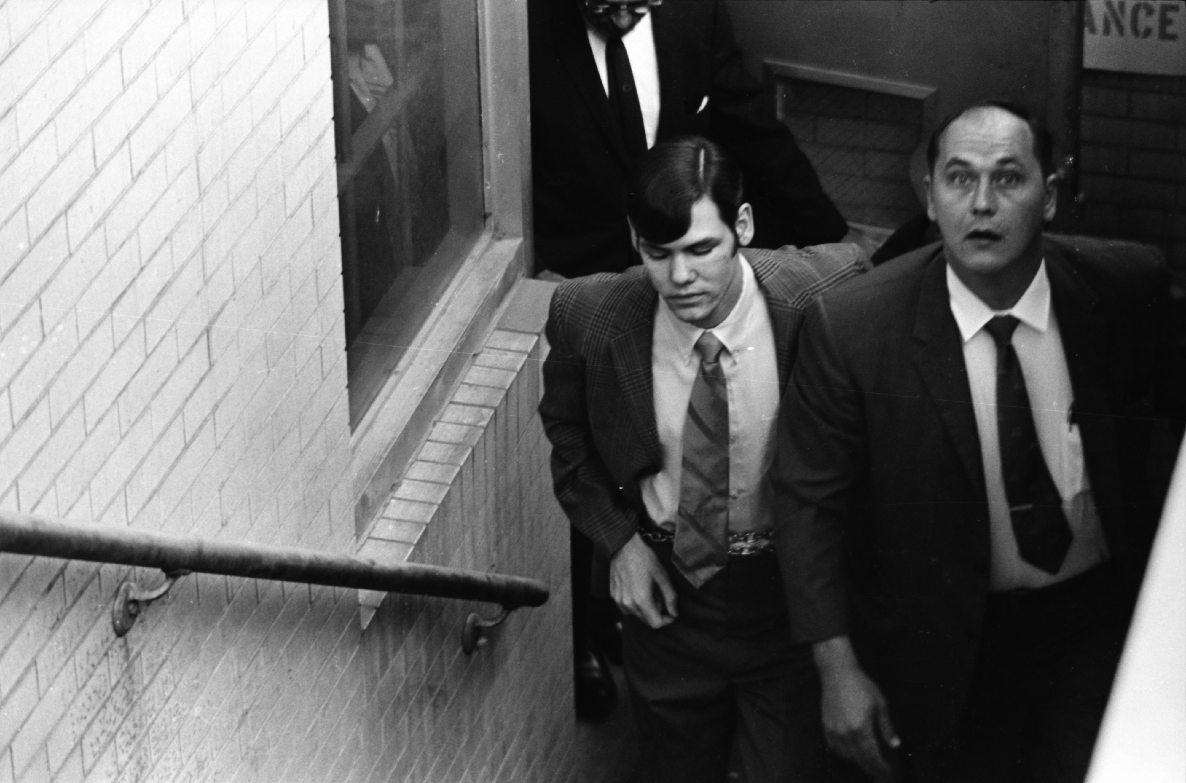 John Norman Collins Being Led from Washtenaw County Courthouse image