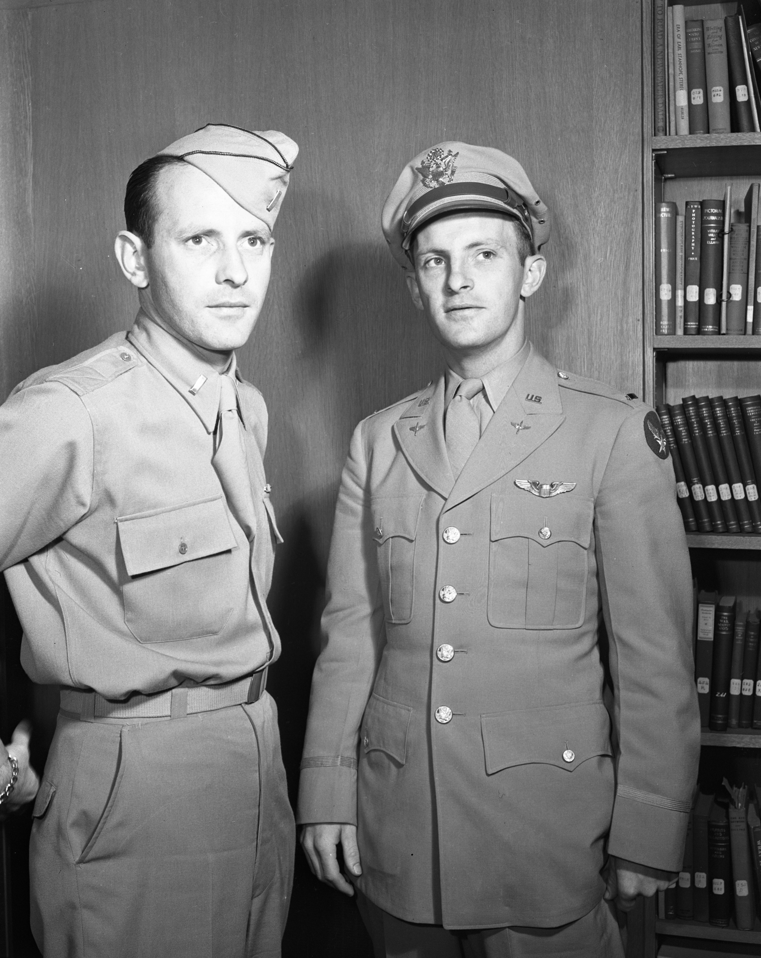 Lts. William A. (left) and Irving T. Conlin (right), June 1944 image