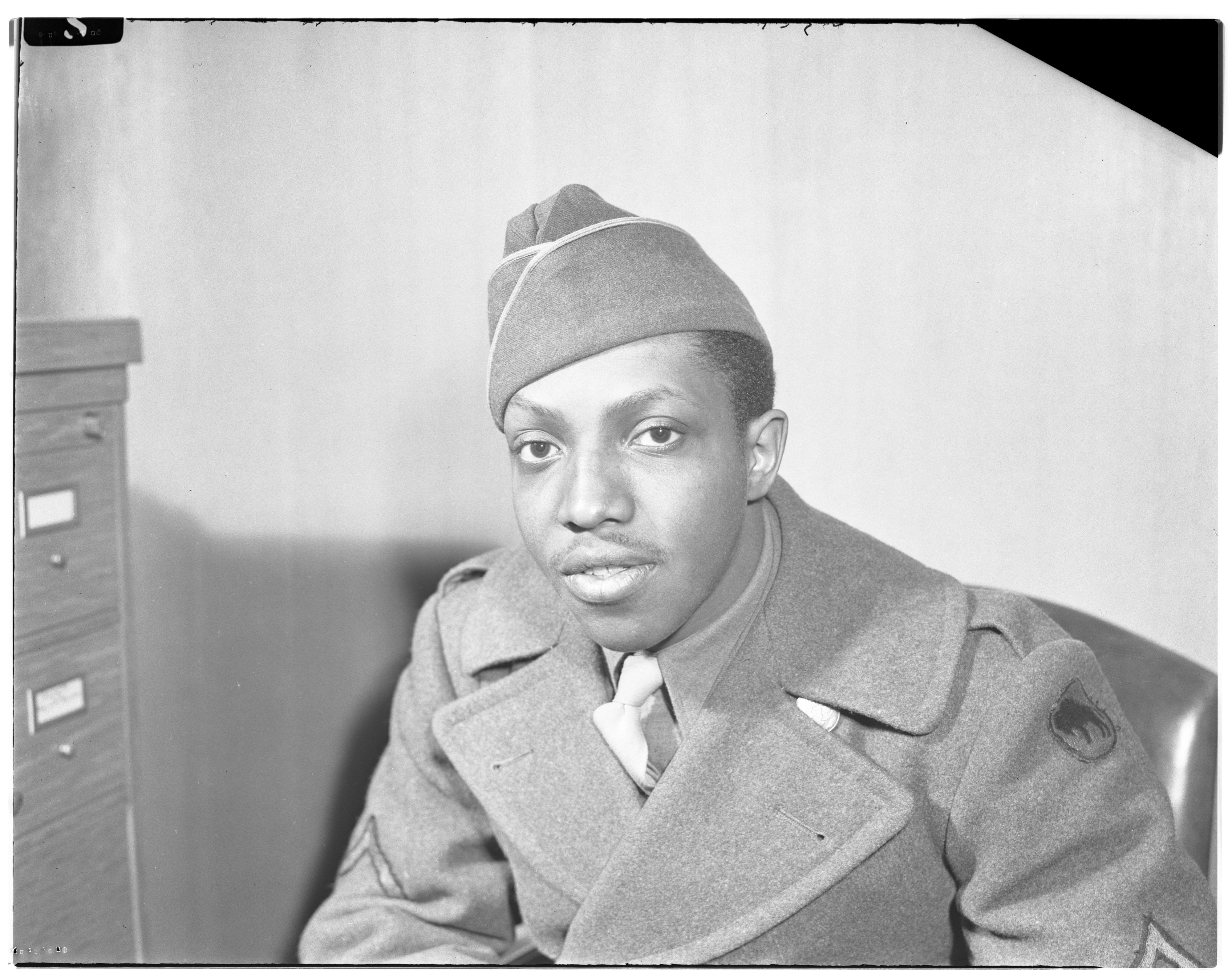 Private George R. Cromwell, US Army, March 1943 image
