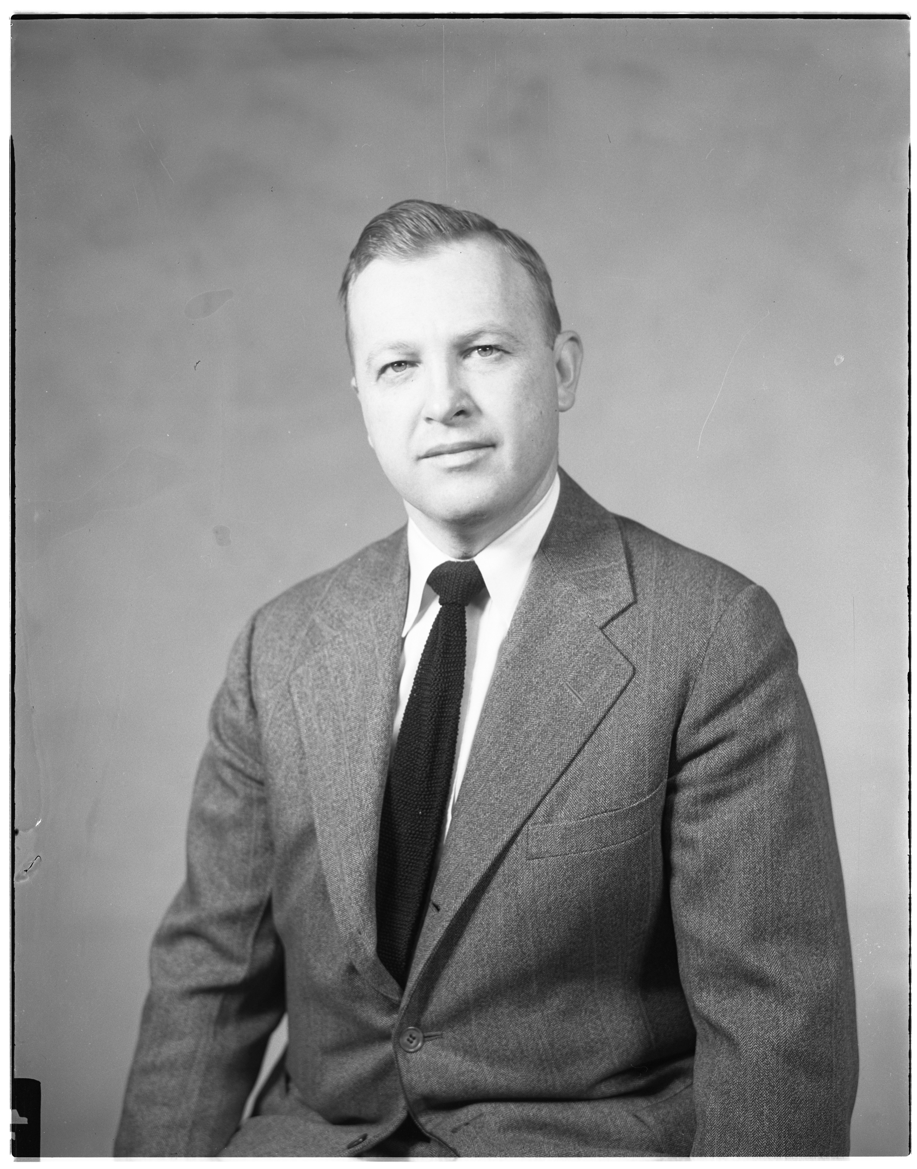 Portrait of Peter P. Darrow, March 1954 image
