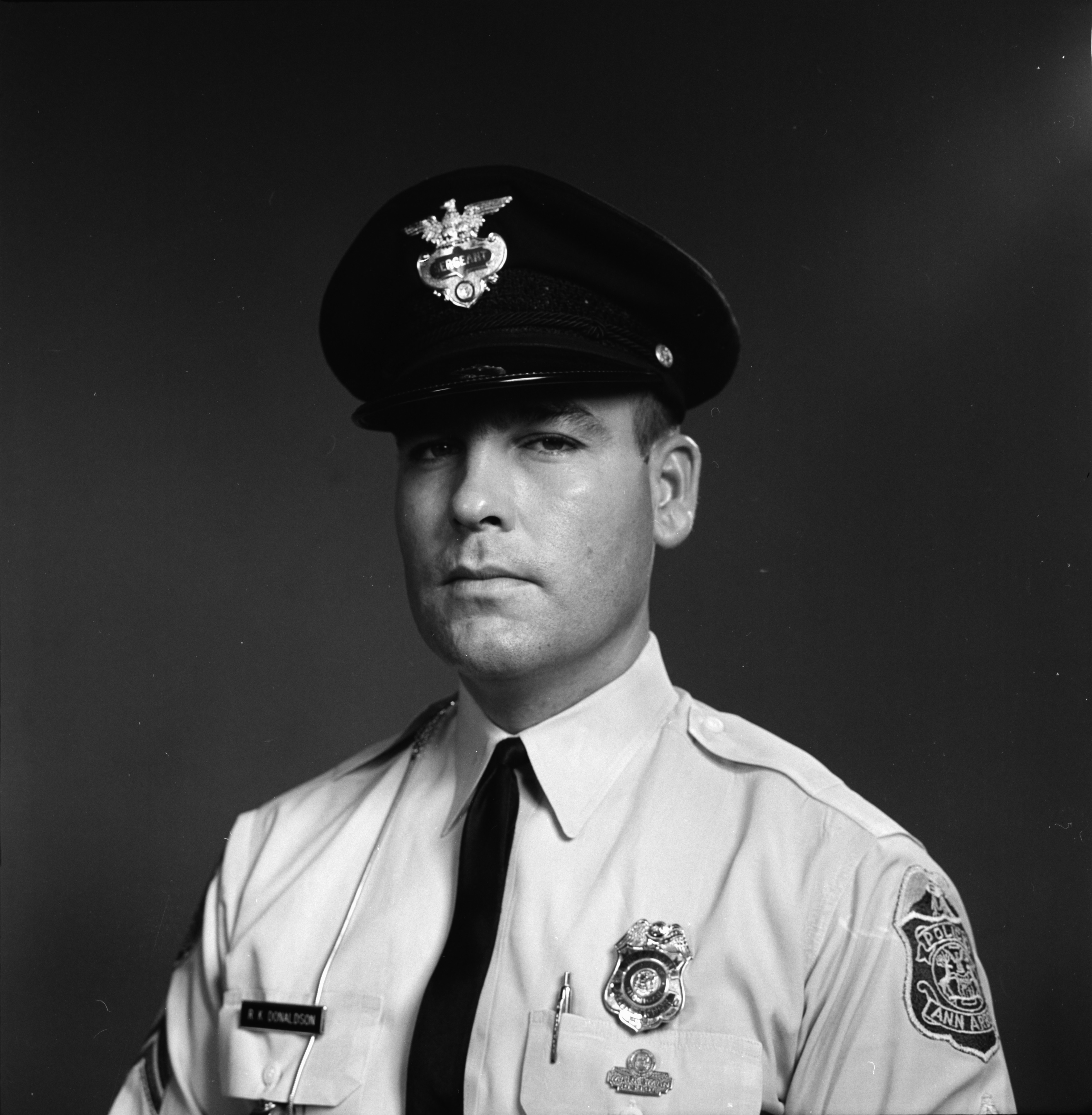 Ann Arbor Police Department Officer Ronald Donaldson, August 1963 image