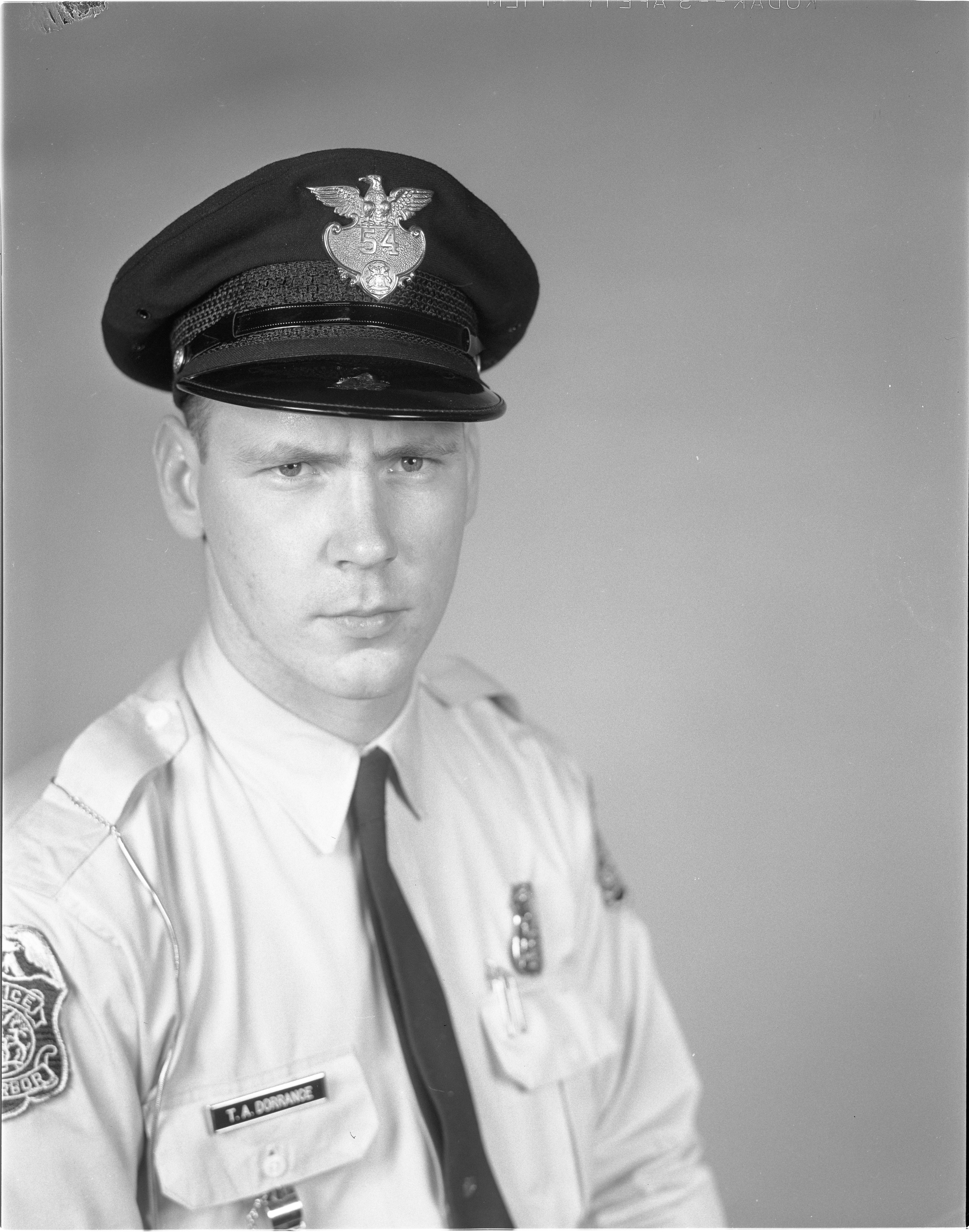 Ann Arbor Police Department Officer Thomas A. Dorrance, September 1962 image