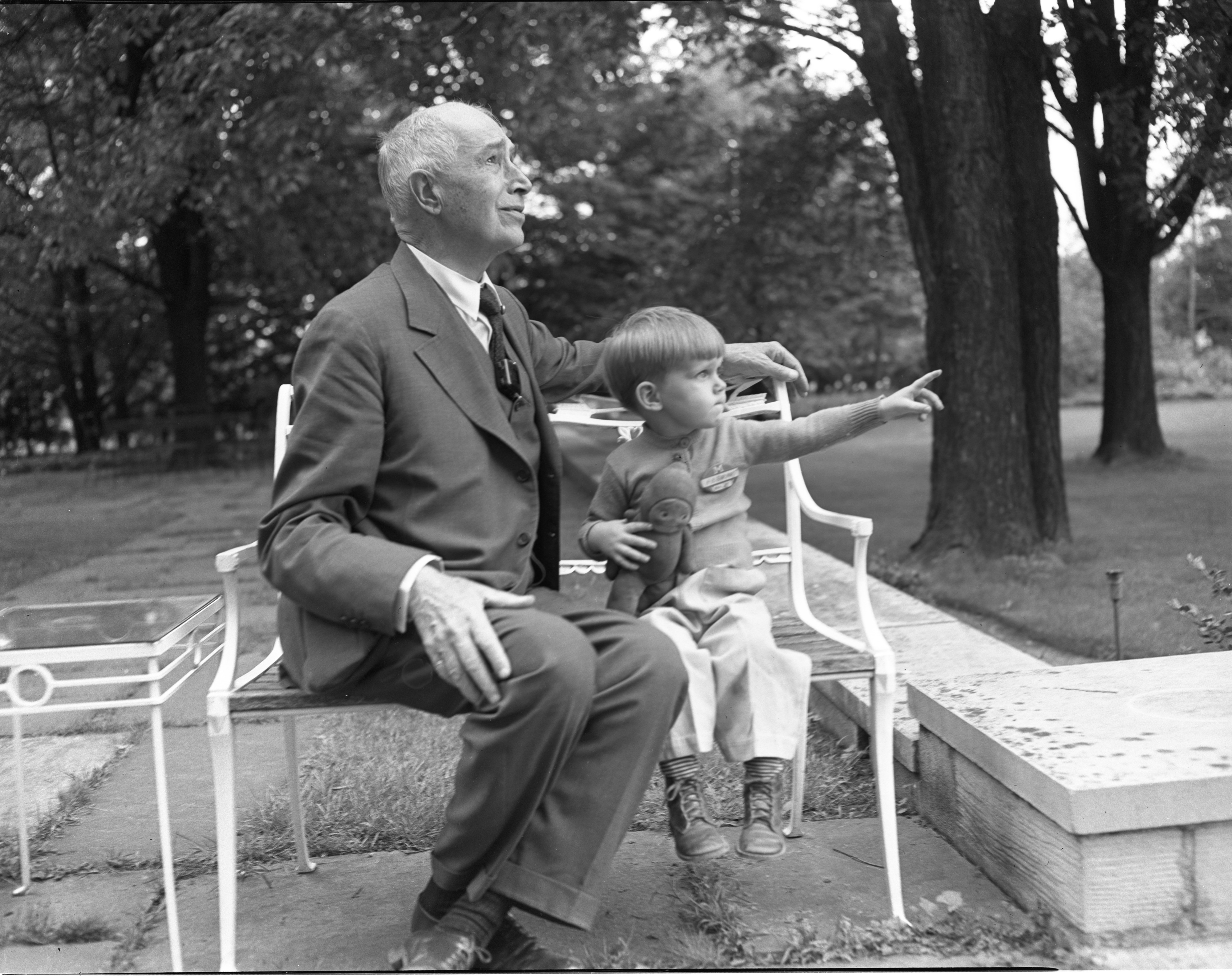 H. B. Earhart & Grandson Jimmy Kennedy, June 1948 image
