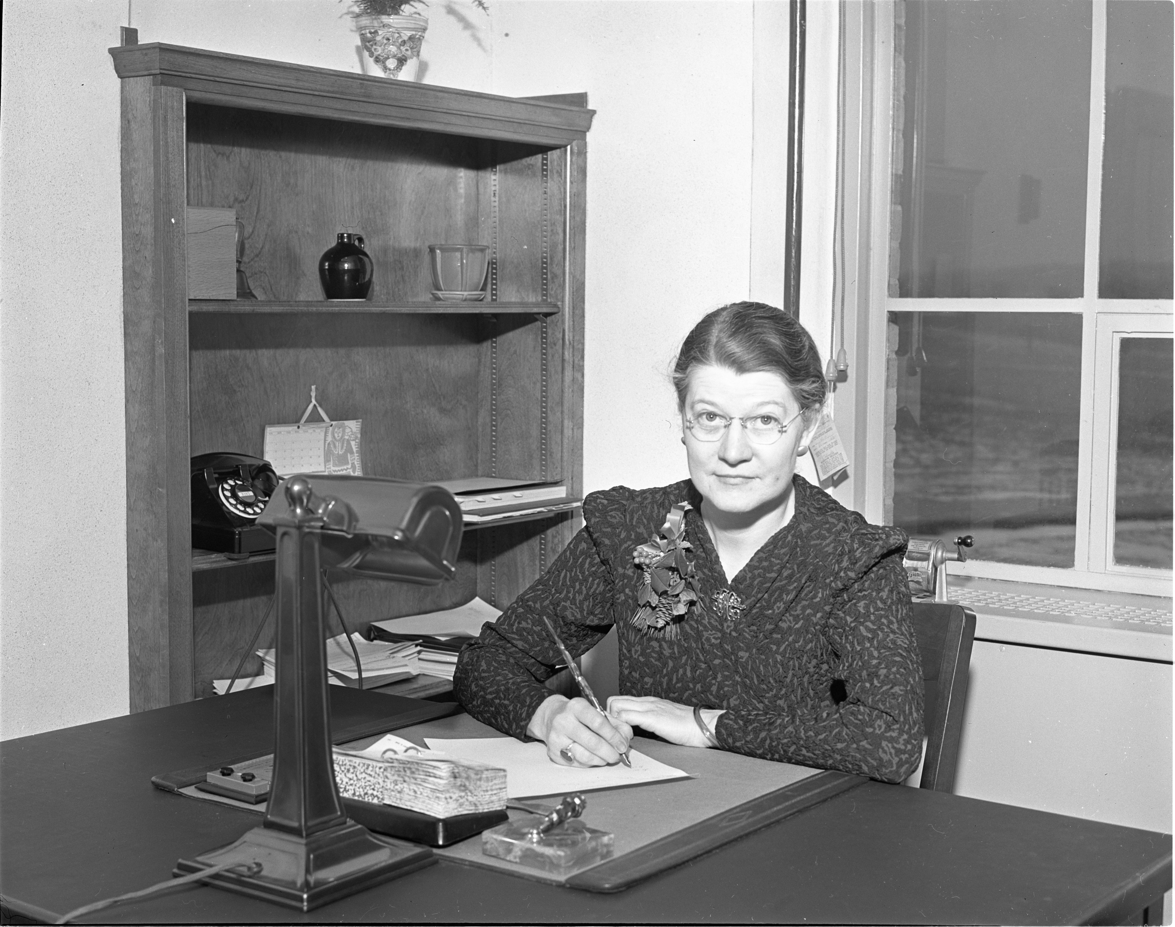 Katharine Harrington - Principal of New Northside School, January 1940 image