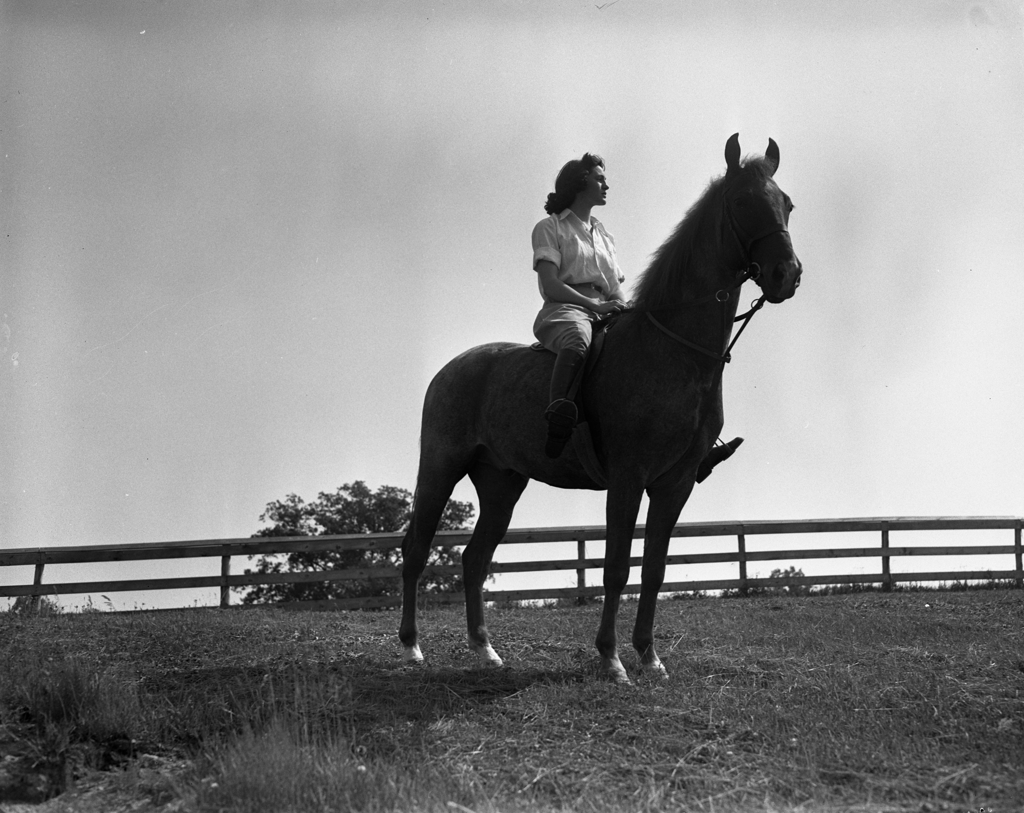 Mary Hayden On Horse, 1939 image
