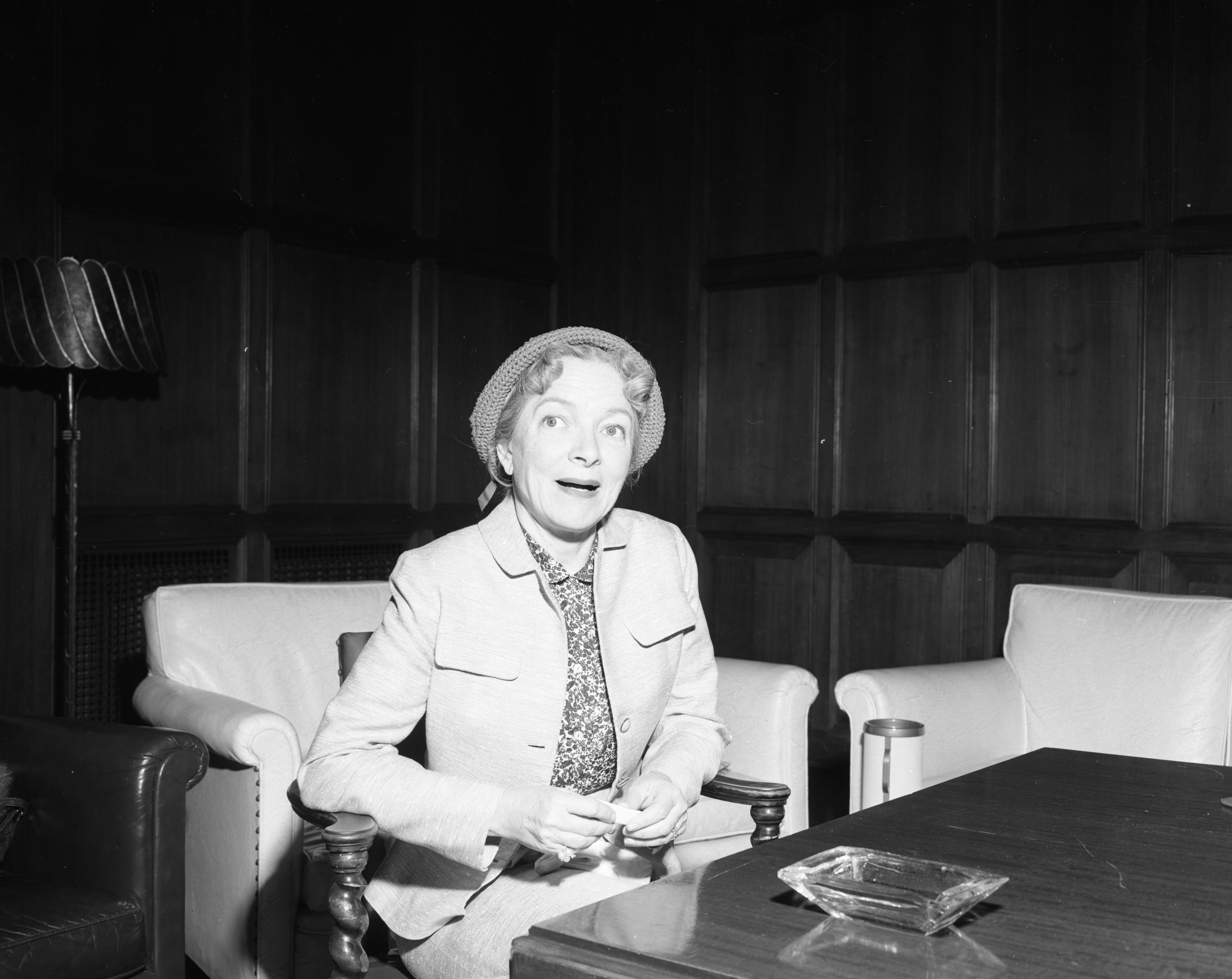 Actress Helen Hayes Discusses Theater In United States, May 1955 image