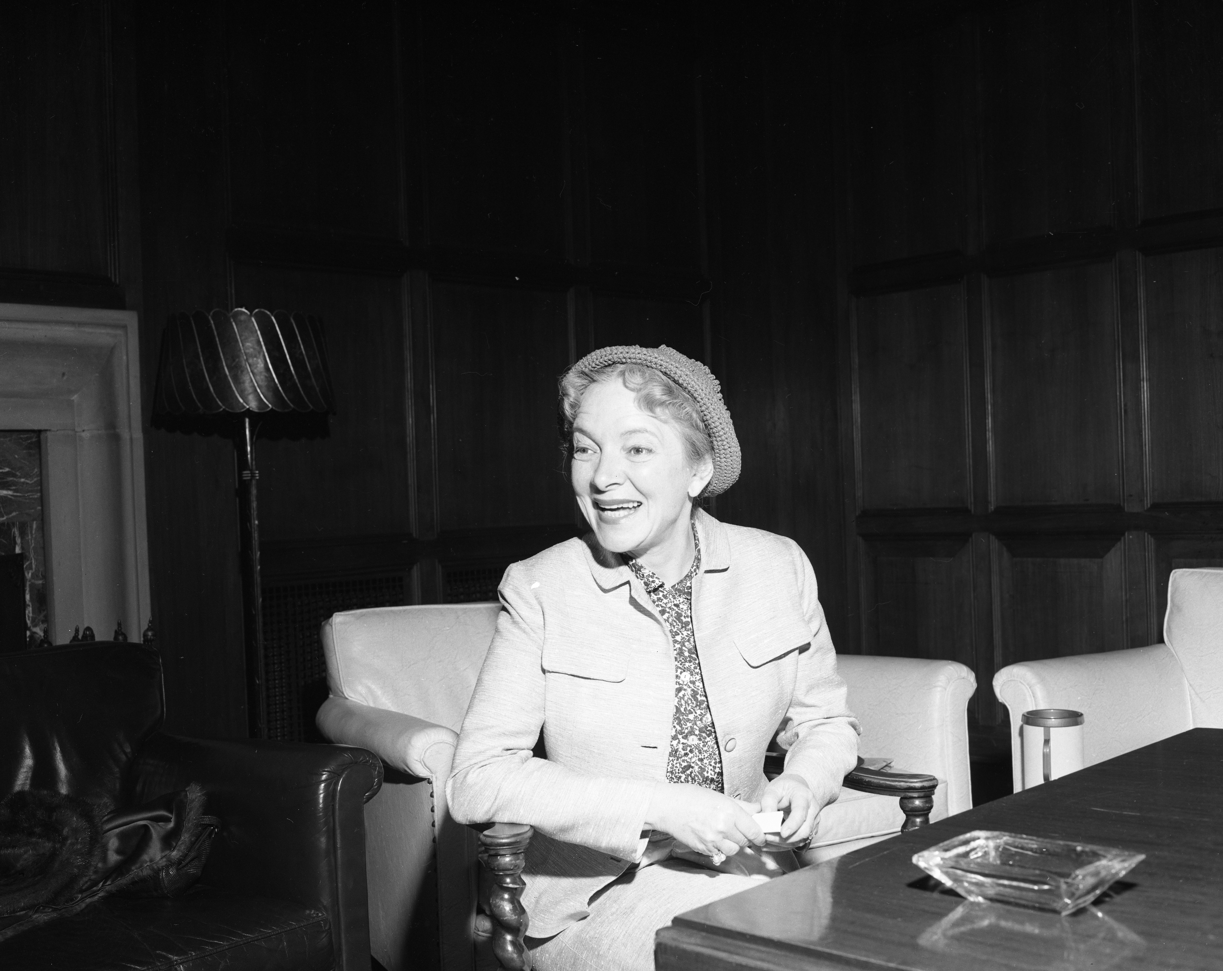 Actress Helen Hayes Discusses Her Stage Plans, May 1955 image