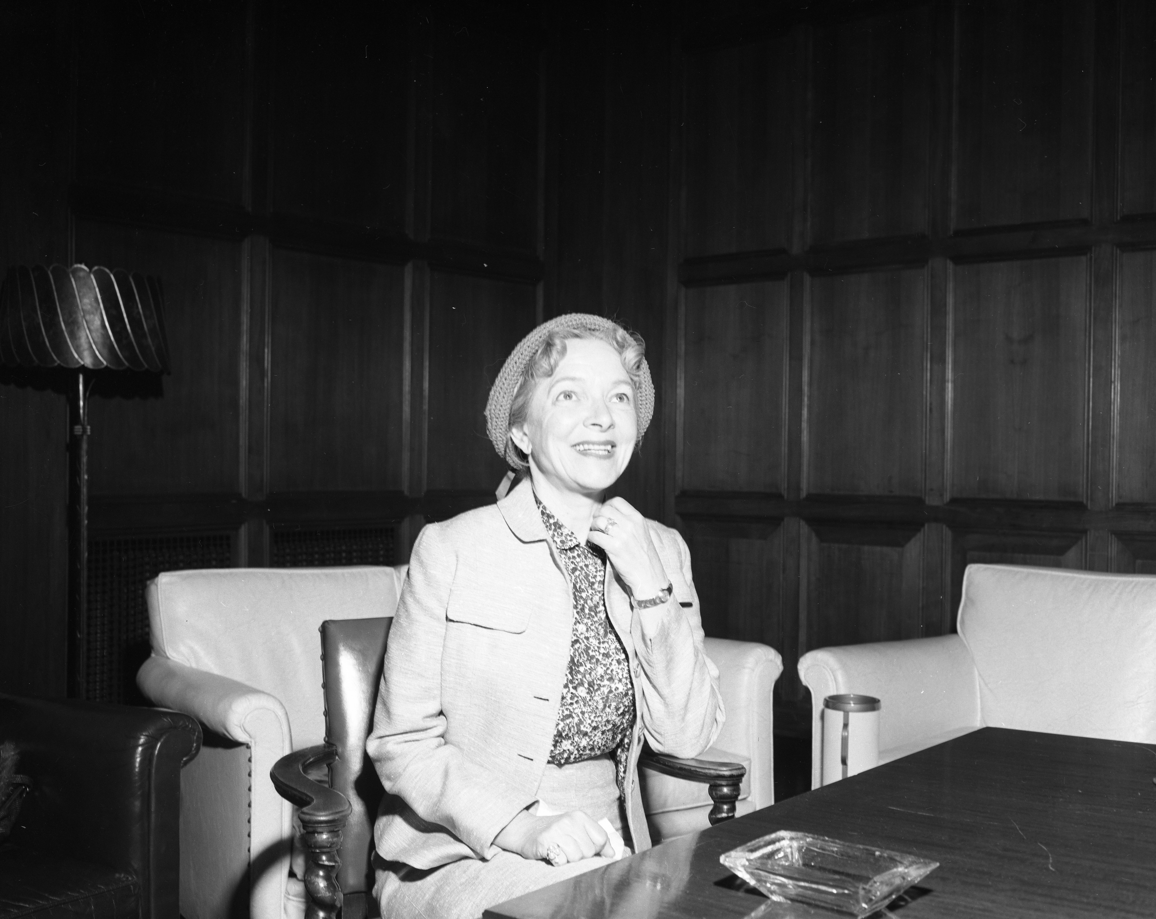 Actress Helen Hayes Discusses Her Current Play, May 1955 image