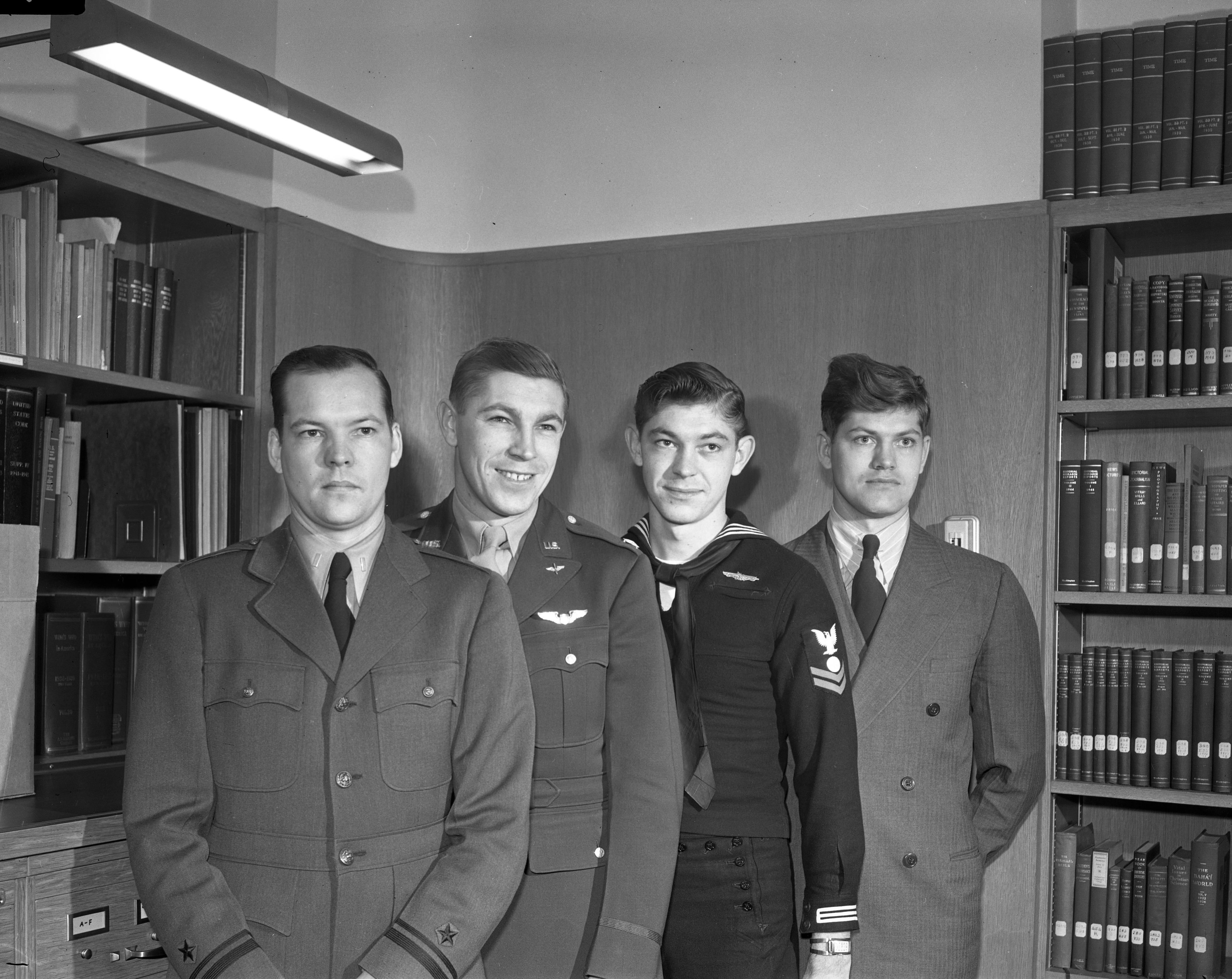Four High Brothers, All Veterans, November 1945 image