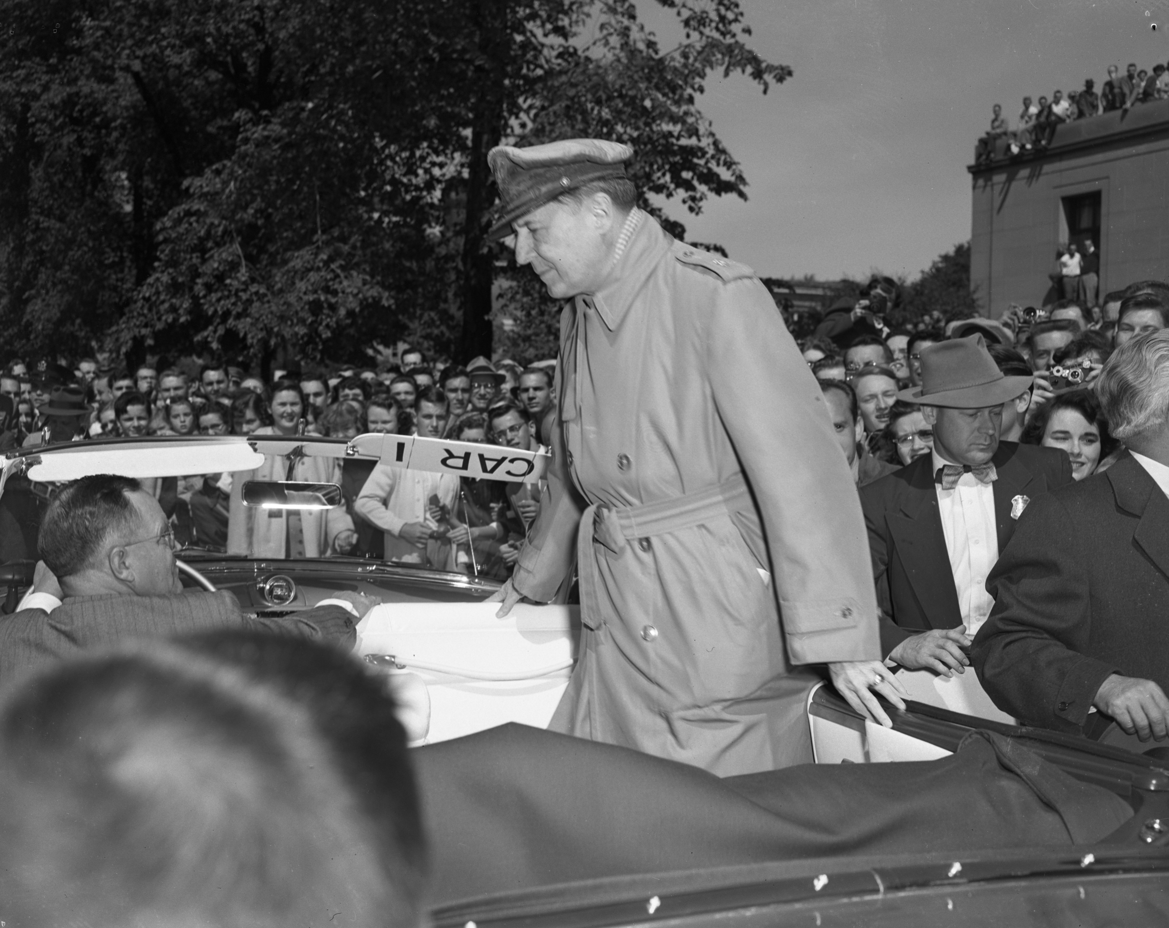General Douglas MacArthur visits Ann Arbor, May 16, 1952 image