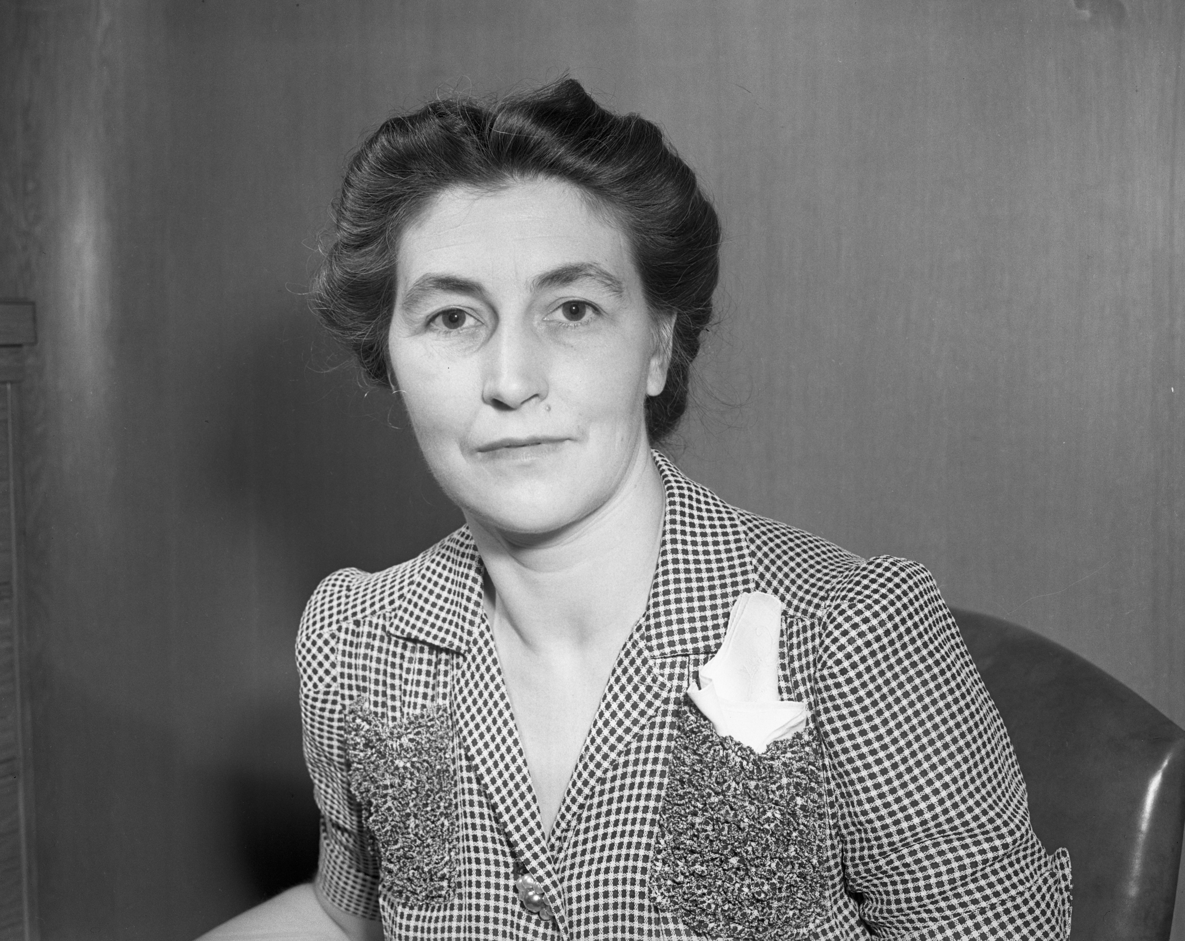Mrs. Merle Malin, Red Cross Director, undated image