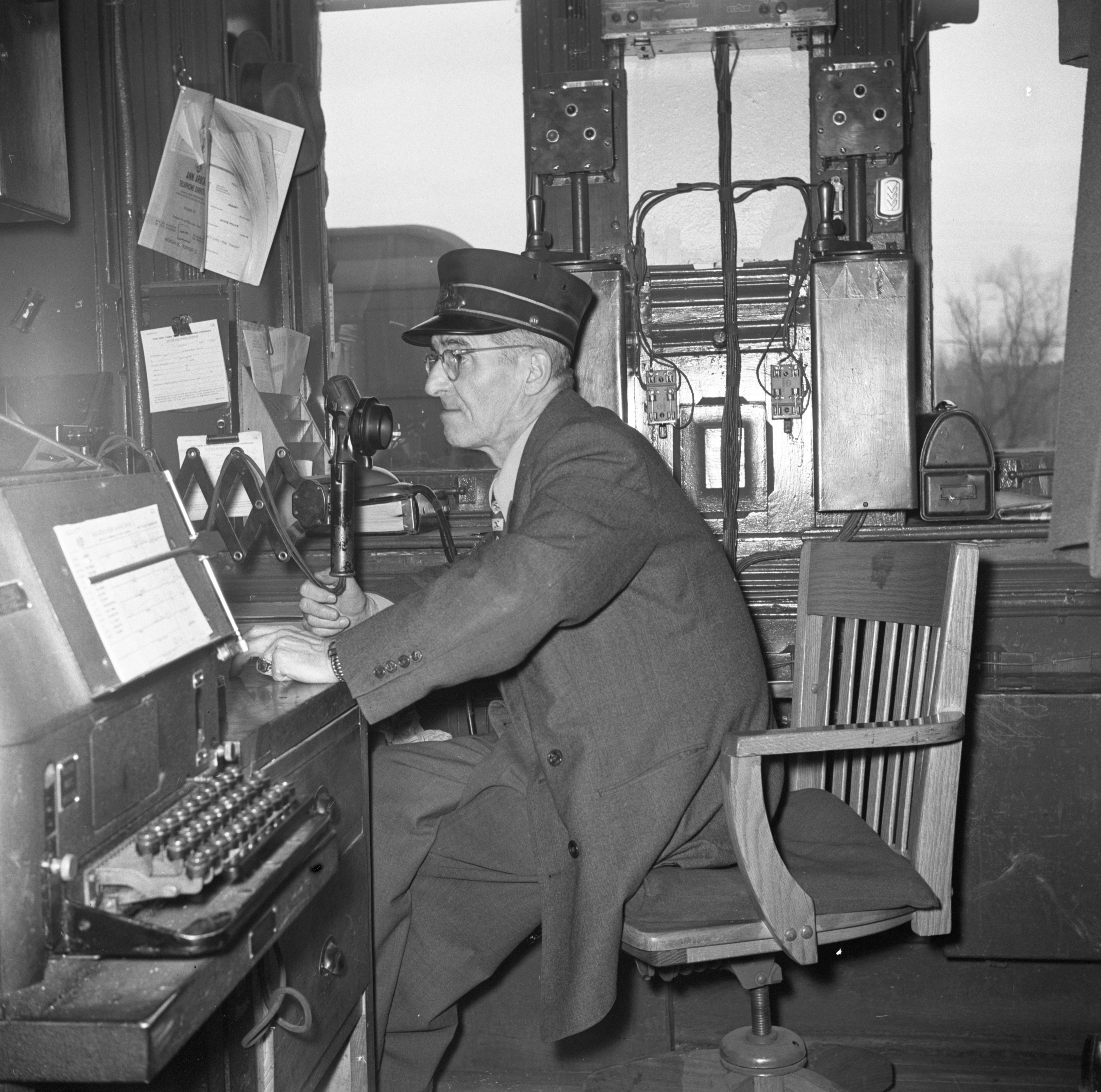 P. H. Moss - New York Central Railroad Telegrapher, January 1952 image
