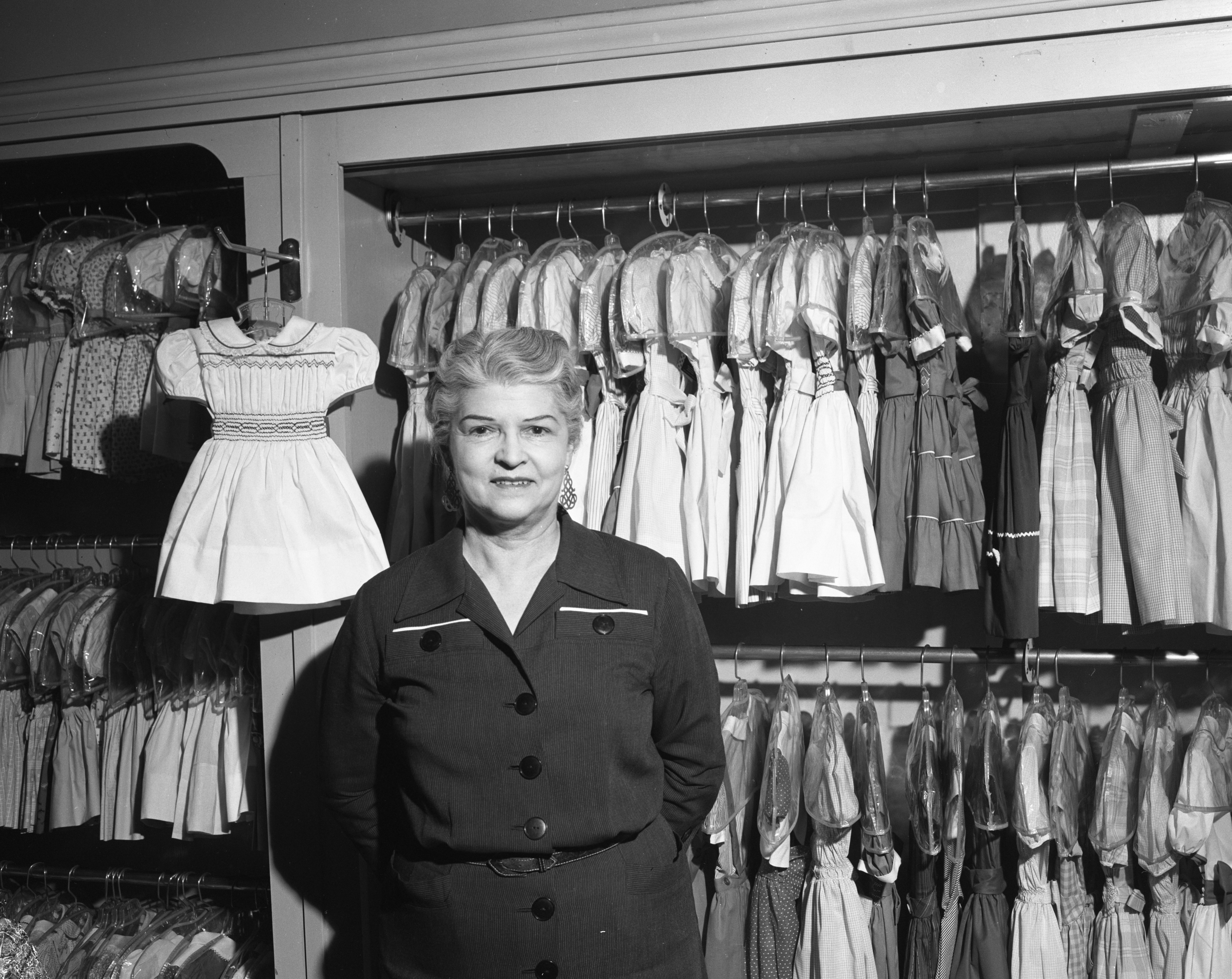 Bee Nickels Shop Owner Beatrice Nickels, January 1957 image