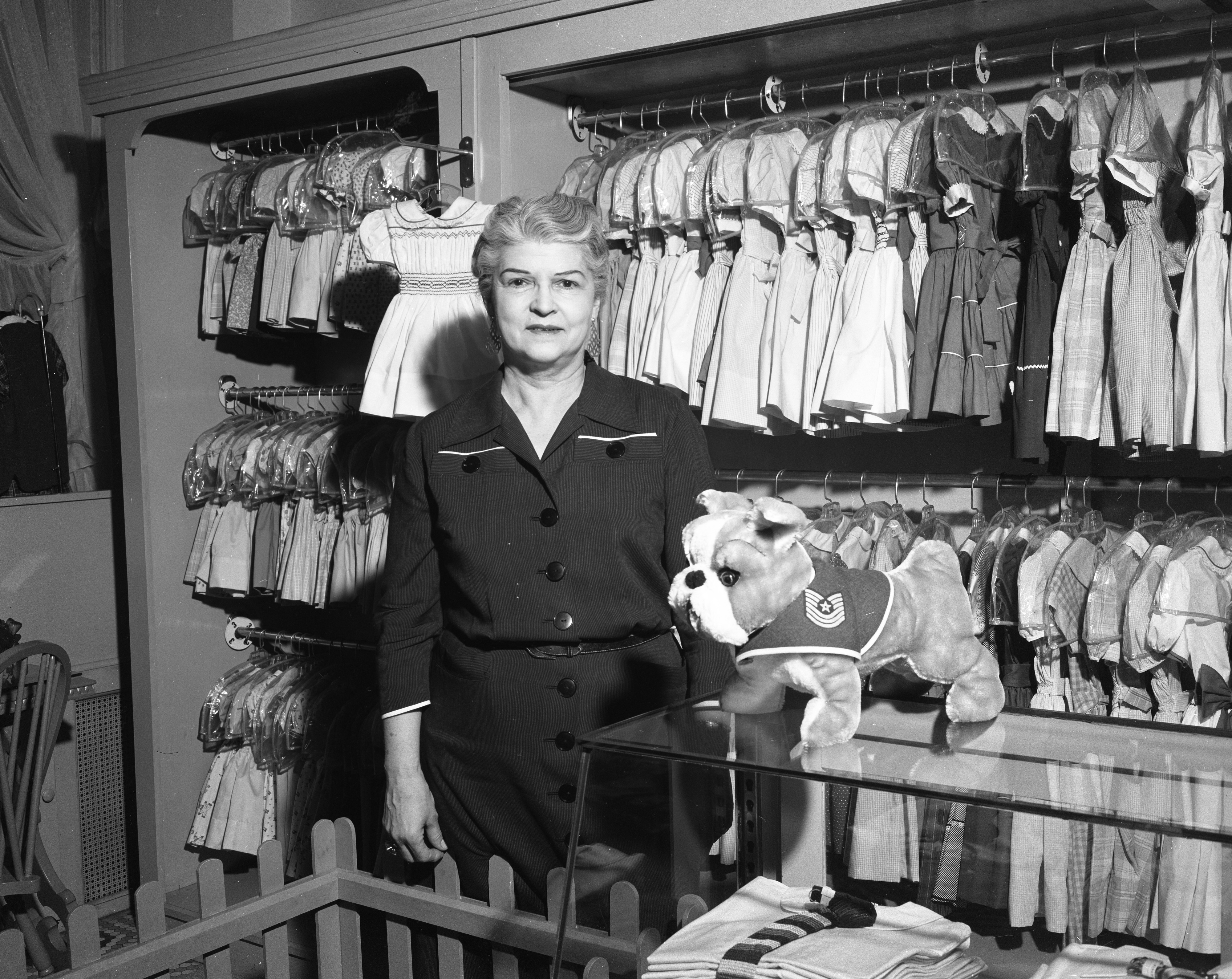 Bee Nickels Shop Owner Beatrice Nickels, Niece of Nickels Arcade Builder Tom Nickels, January 1957 image