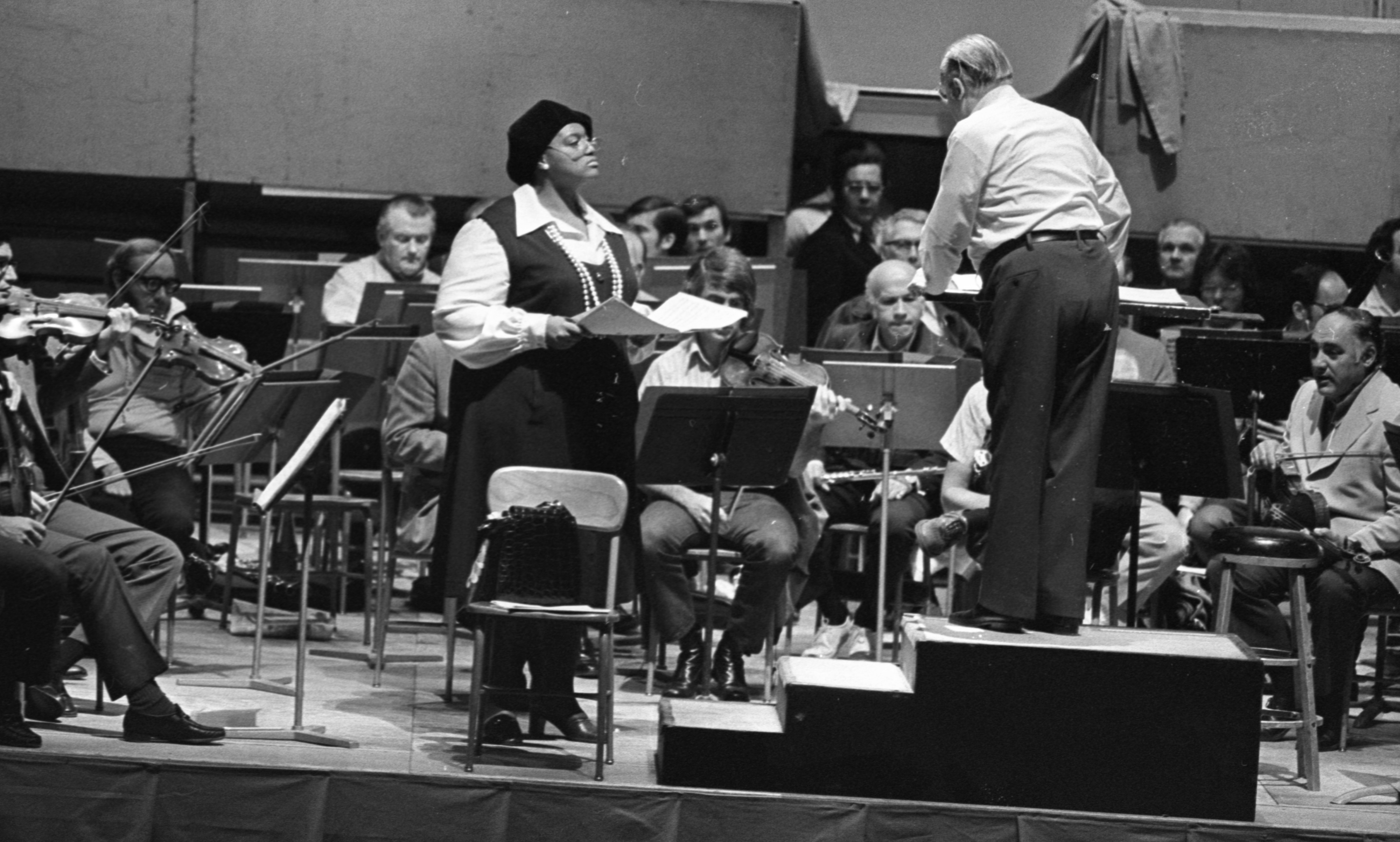 Jessye Norman Rehearses For May Festival With Thor Johnson And The Philadelphia Orchestra, May 1973 image