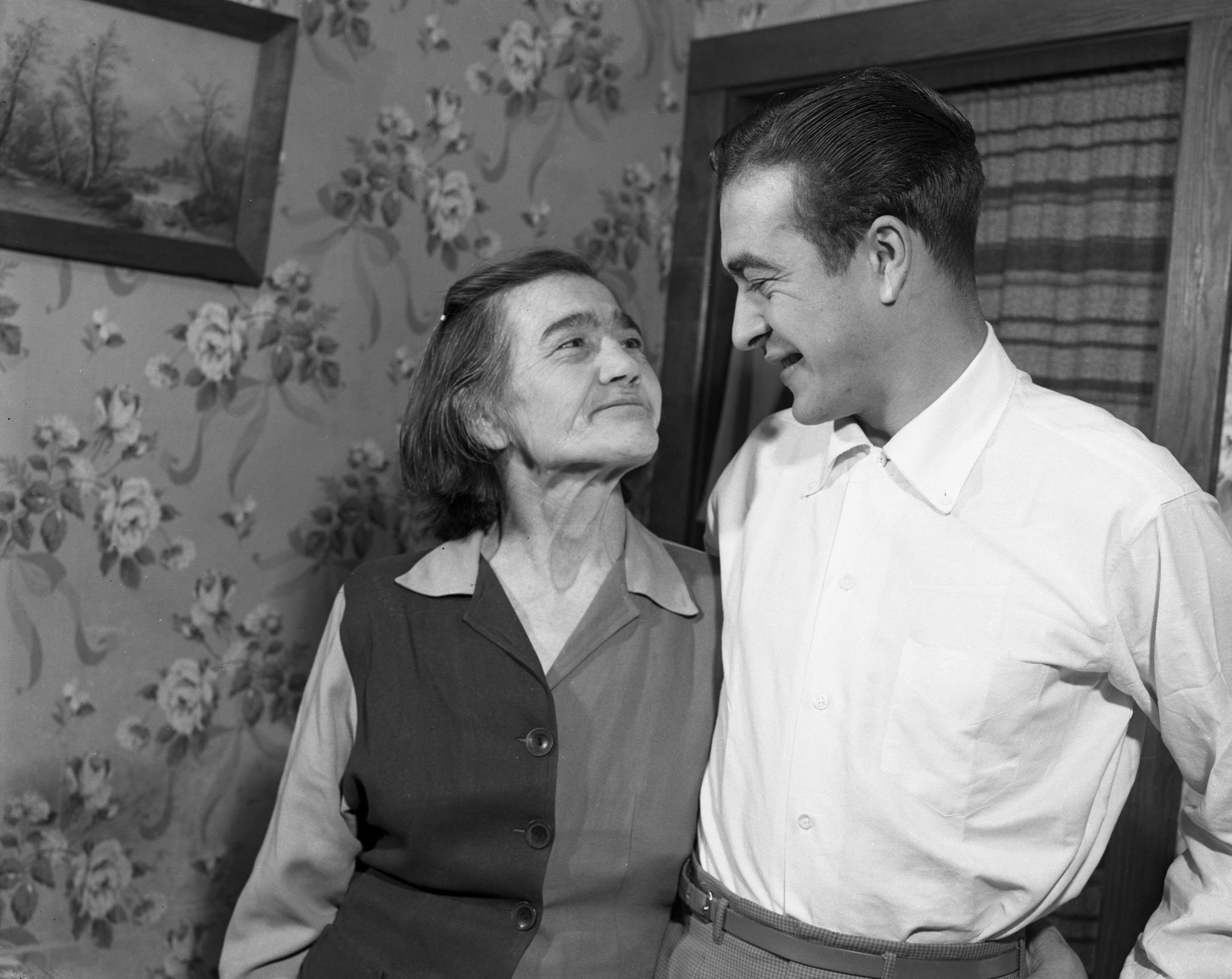 Don Pollock finds his mother, Bertha Dennison, in Ann Arbor, January 1952 image