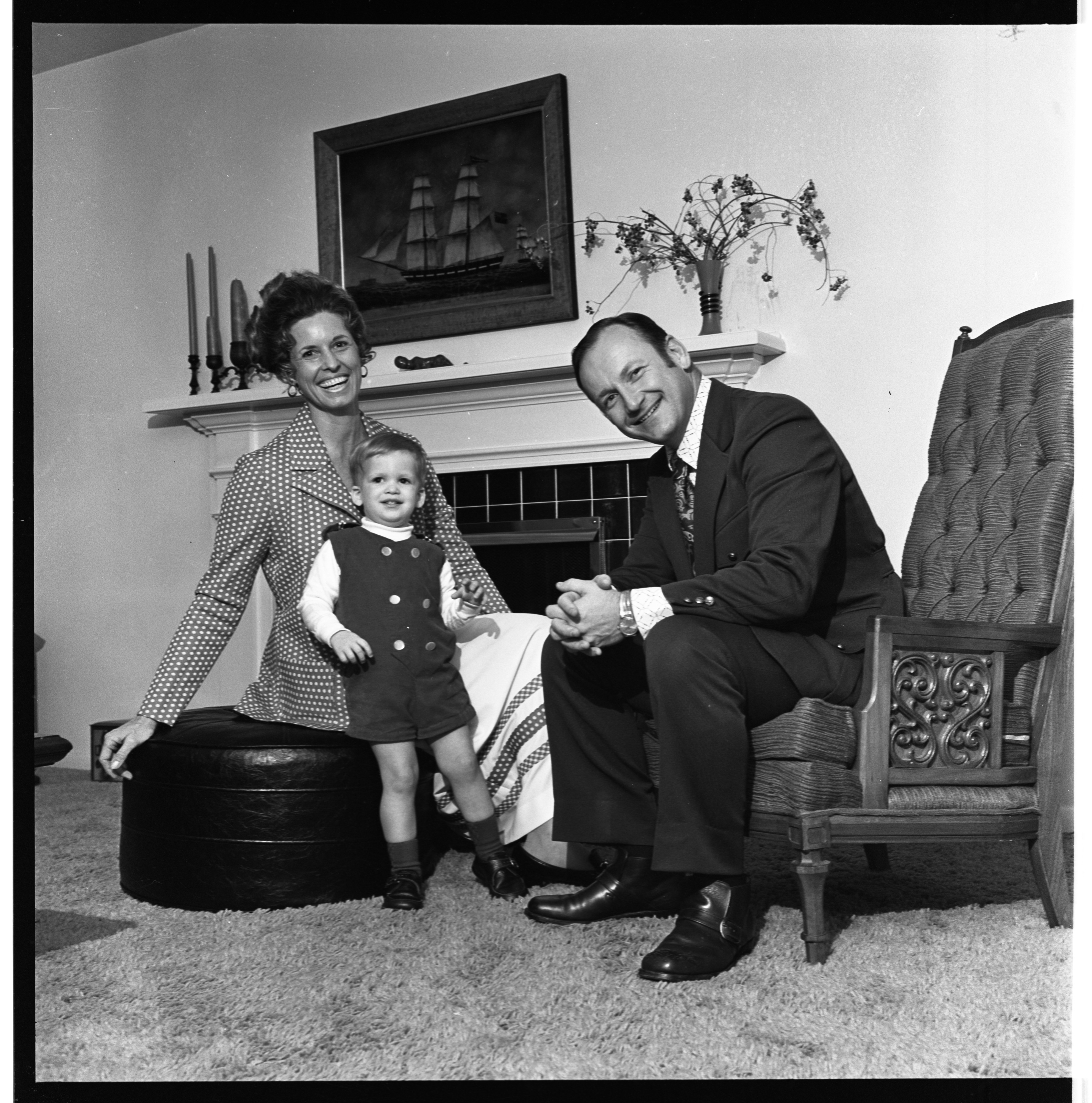 Bo & Millie Schembechler At Home, January 1972 image