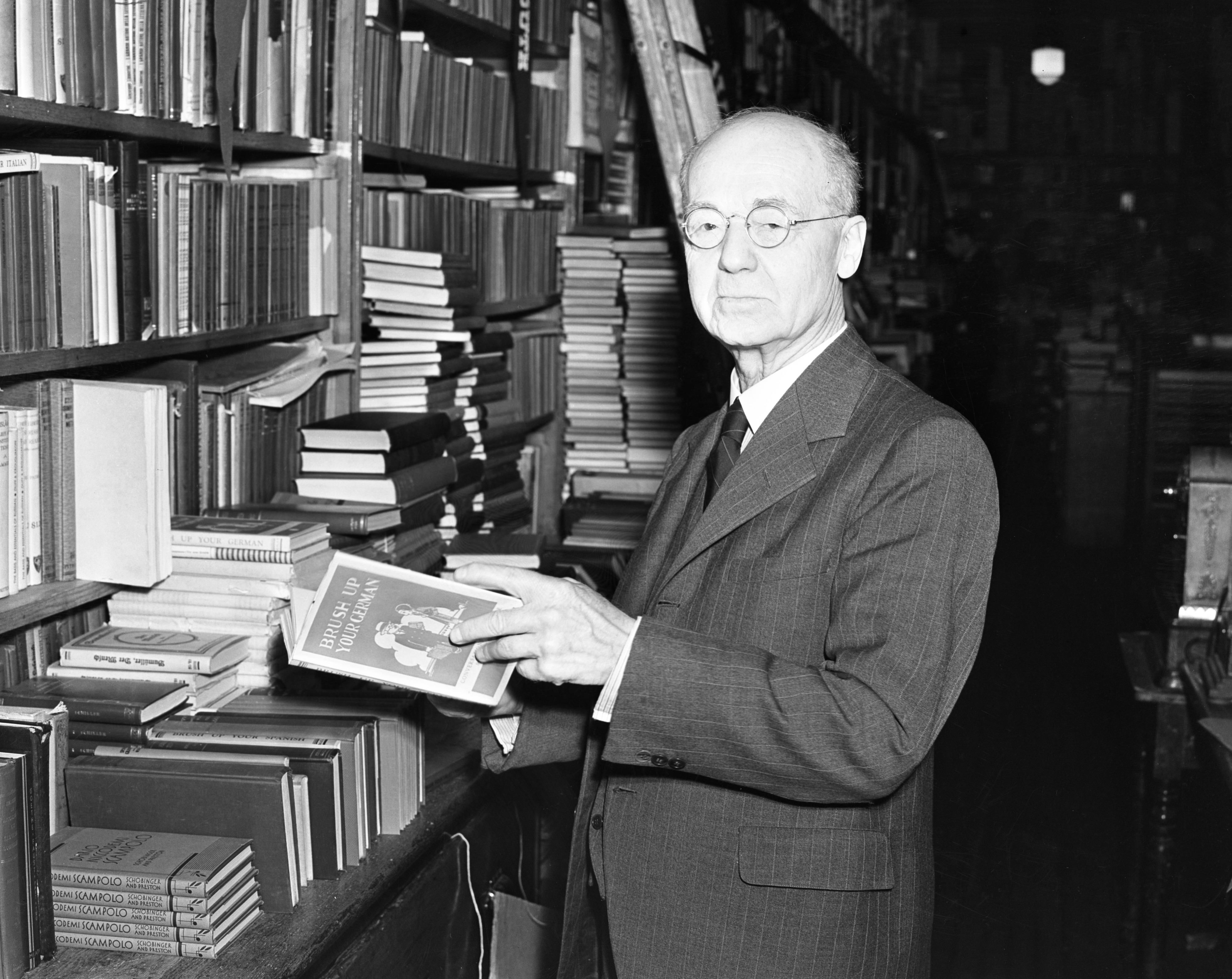 John A. Schlee, Wahr's Bookstore, June 1938 image