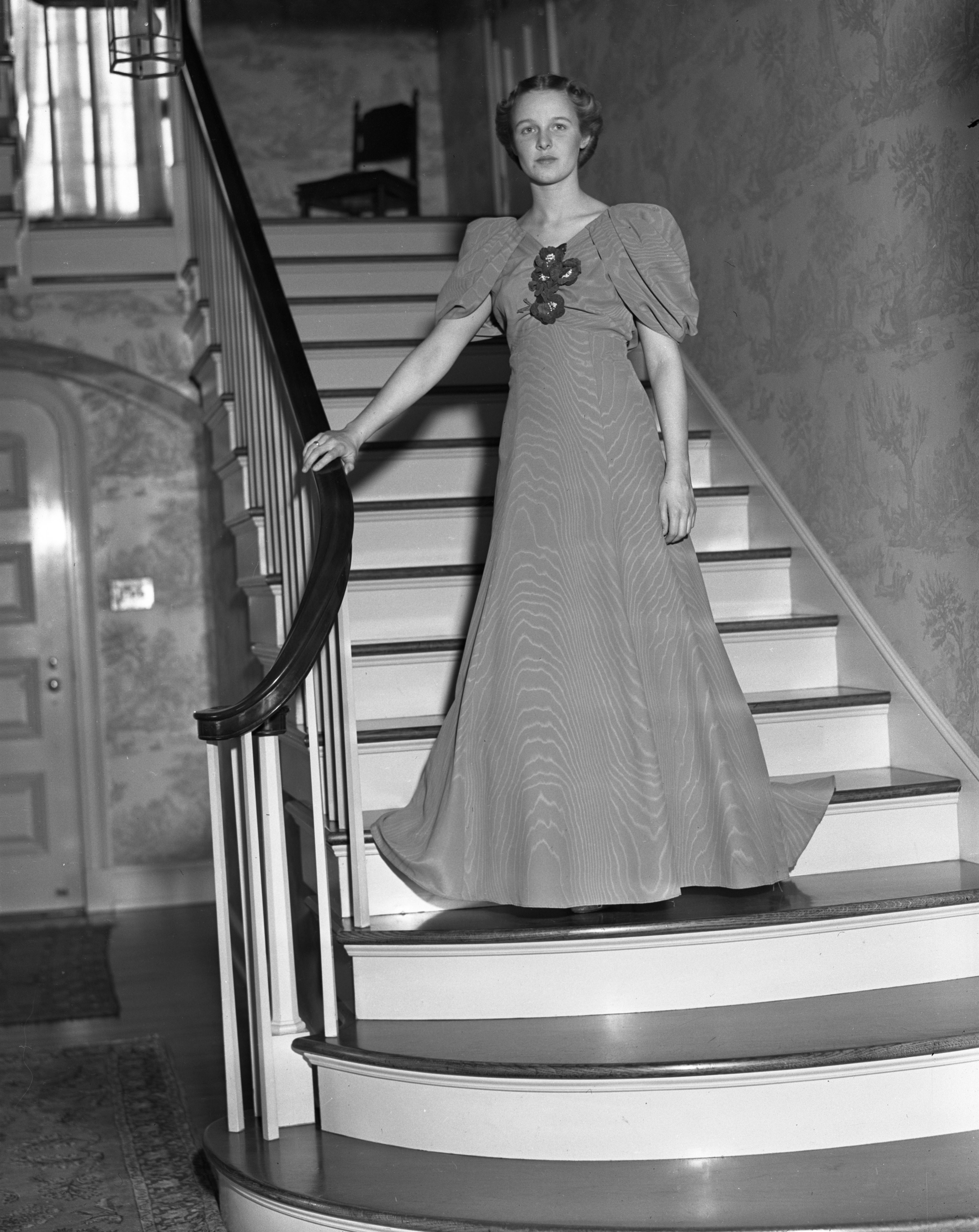 Jean Seeley, in J-Hop Gown, February 1937 image