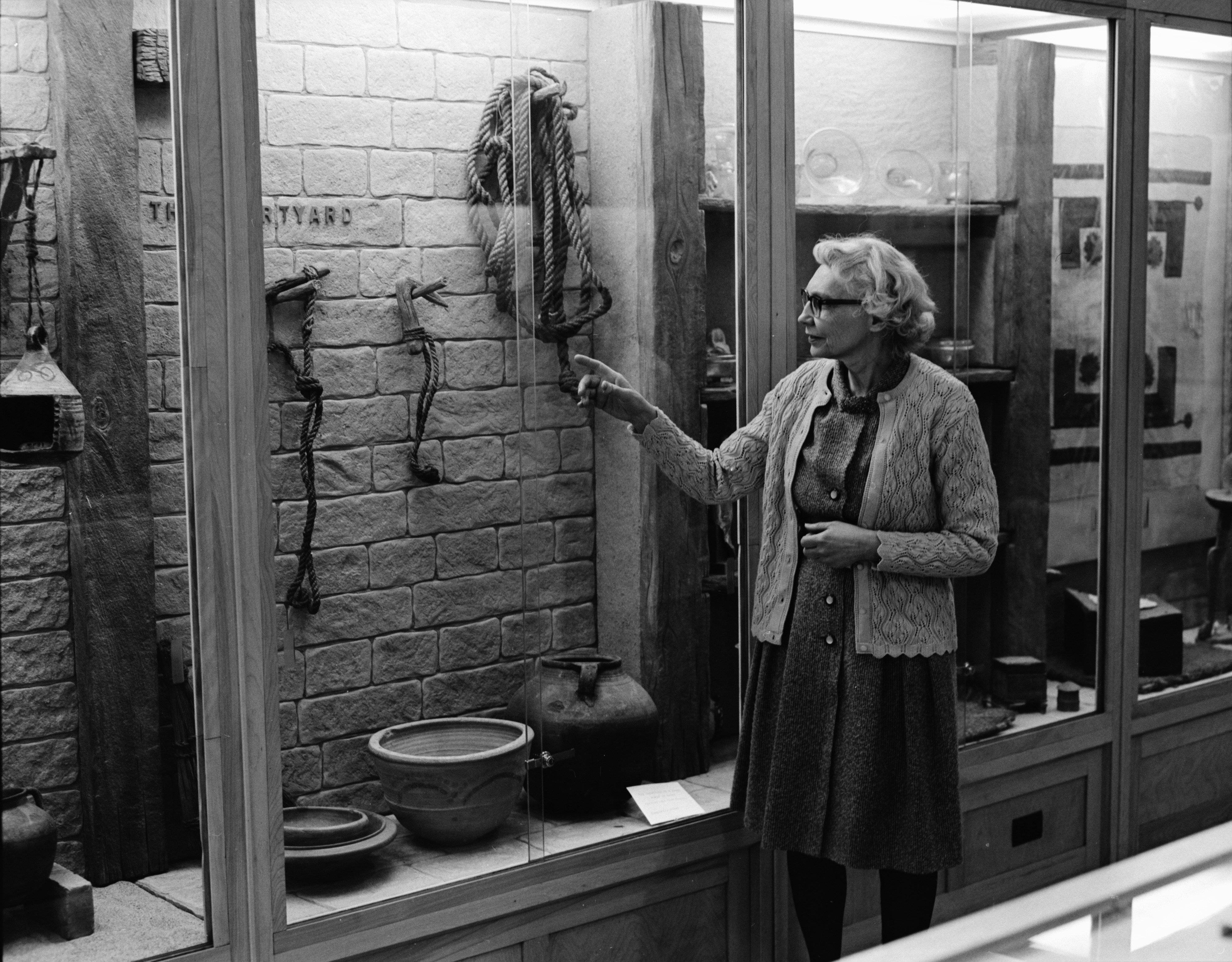 Louise A. Shier, Curator and Acting Director of Kelsey Museum, March 1972 image