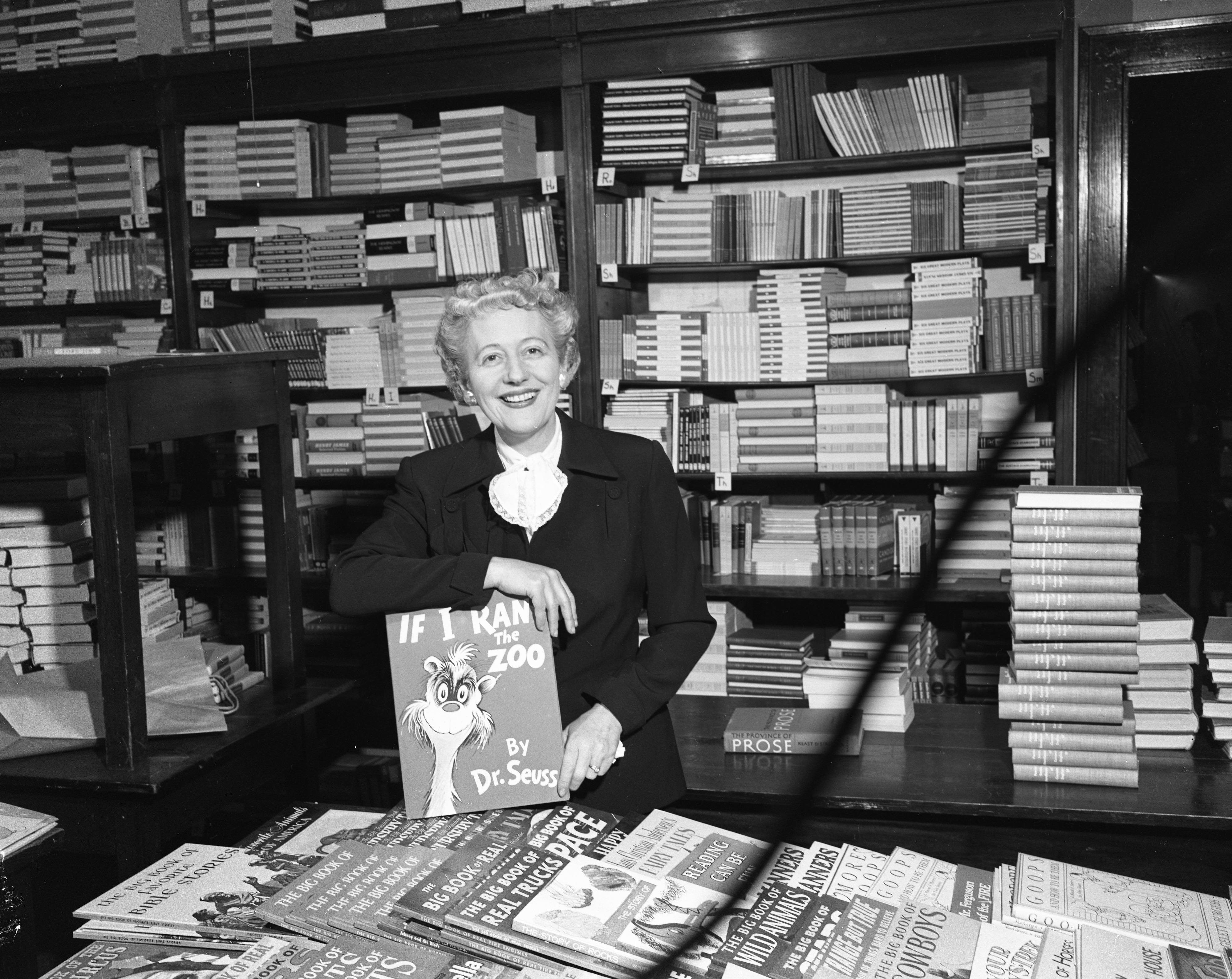 Florence Slater, Owner of Slater's Book Store In Nickels Arcade, February 1957 image