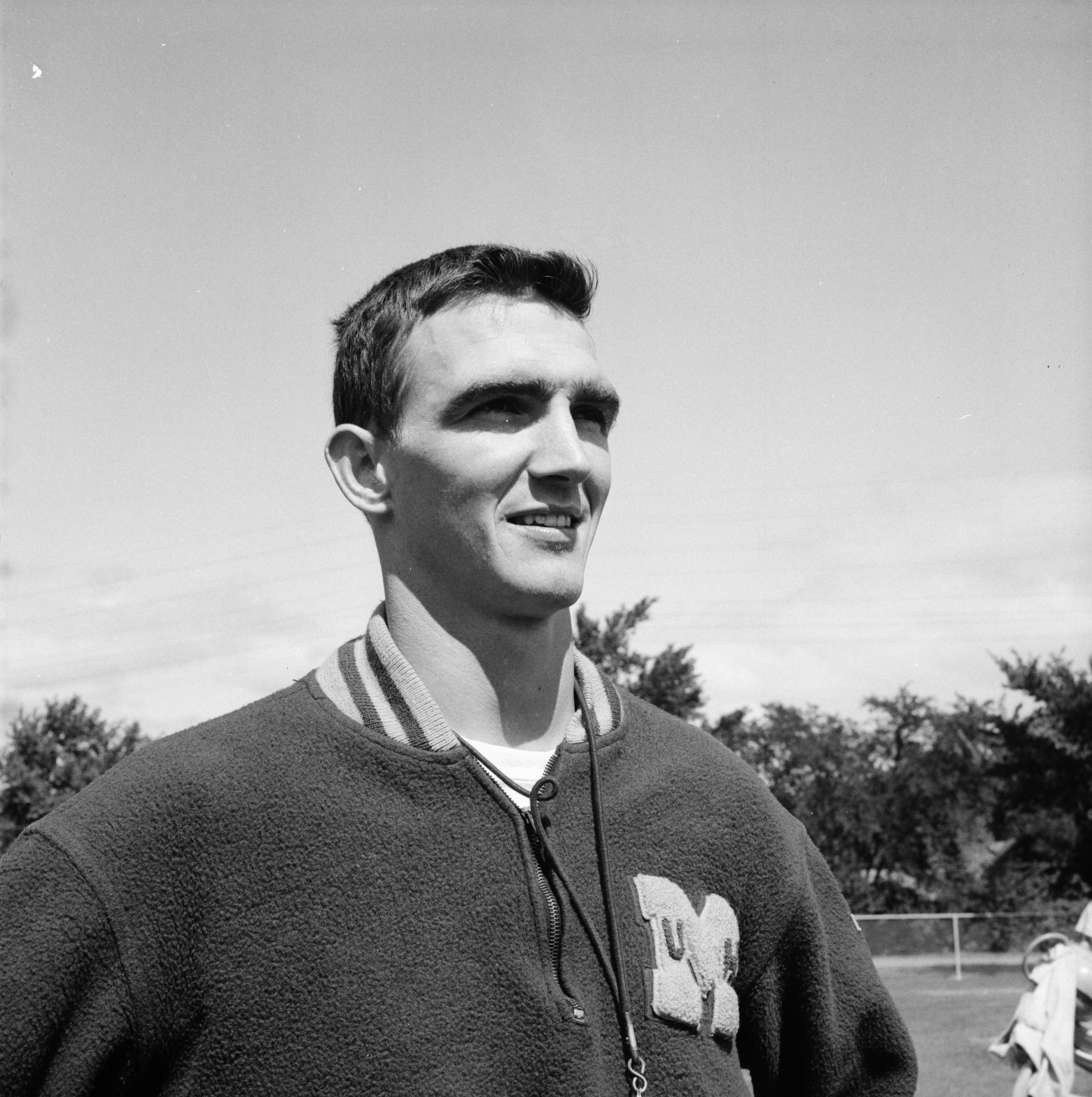 Jay Stielstra, University High School football coach, September 1958 image