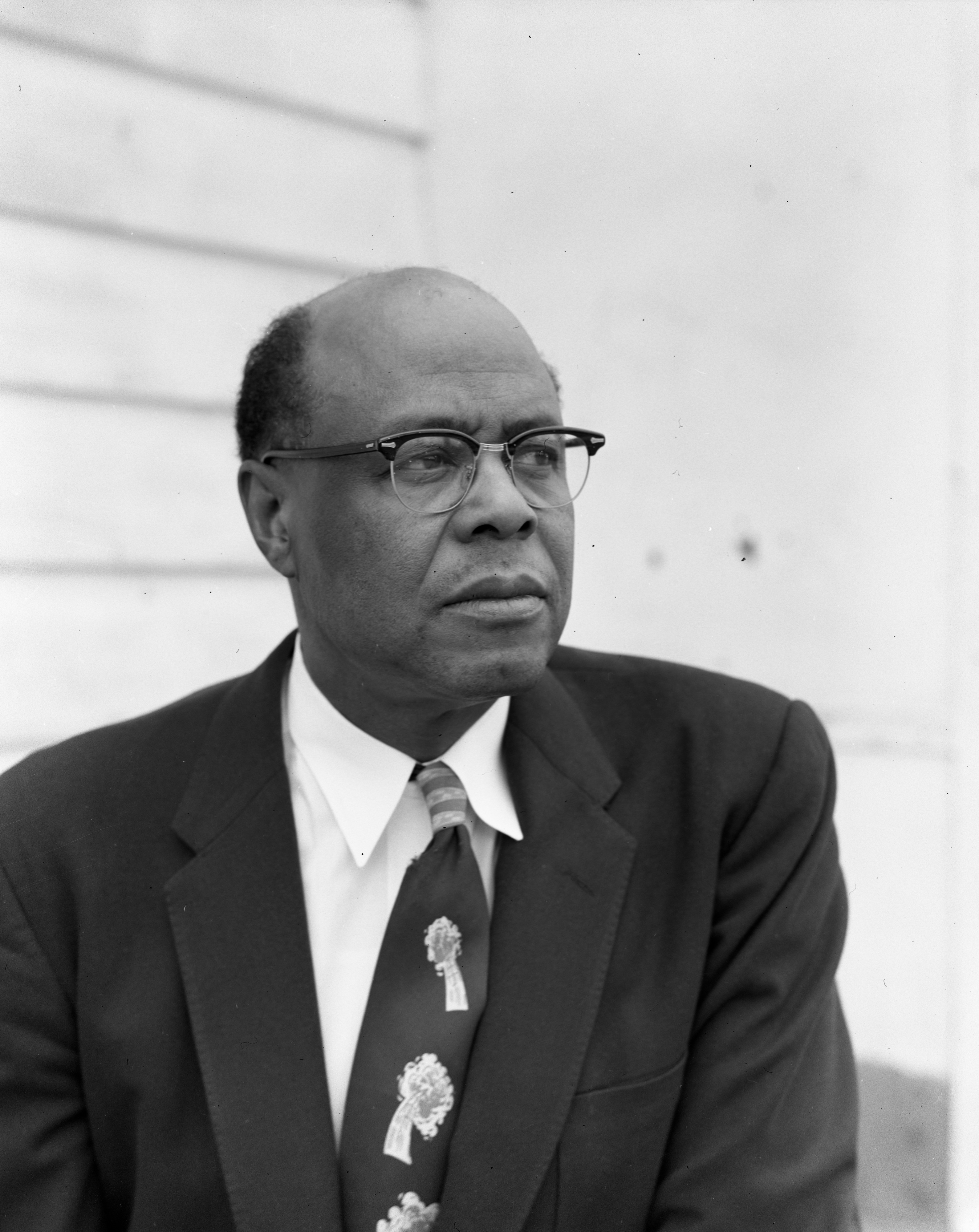 Amos Washington, Ypsilanti City Official, April 1956 image