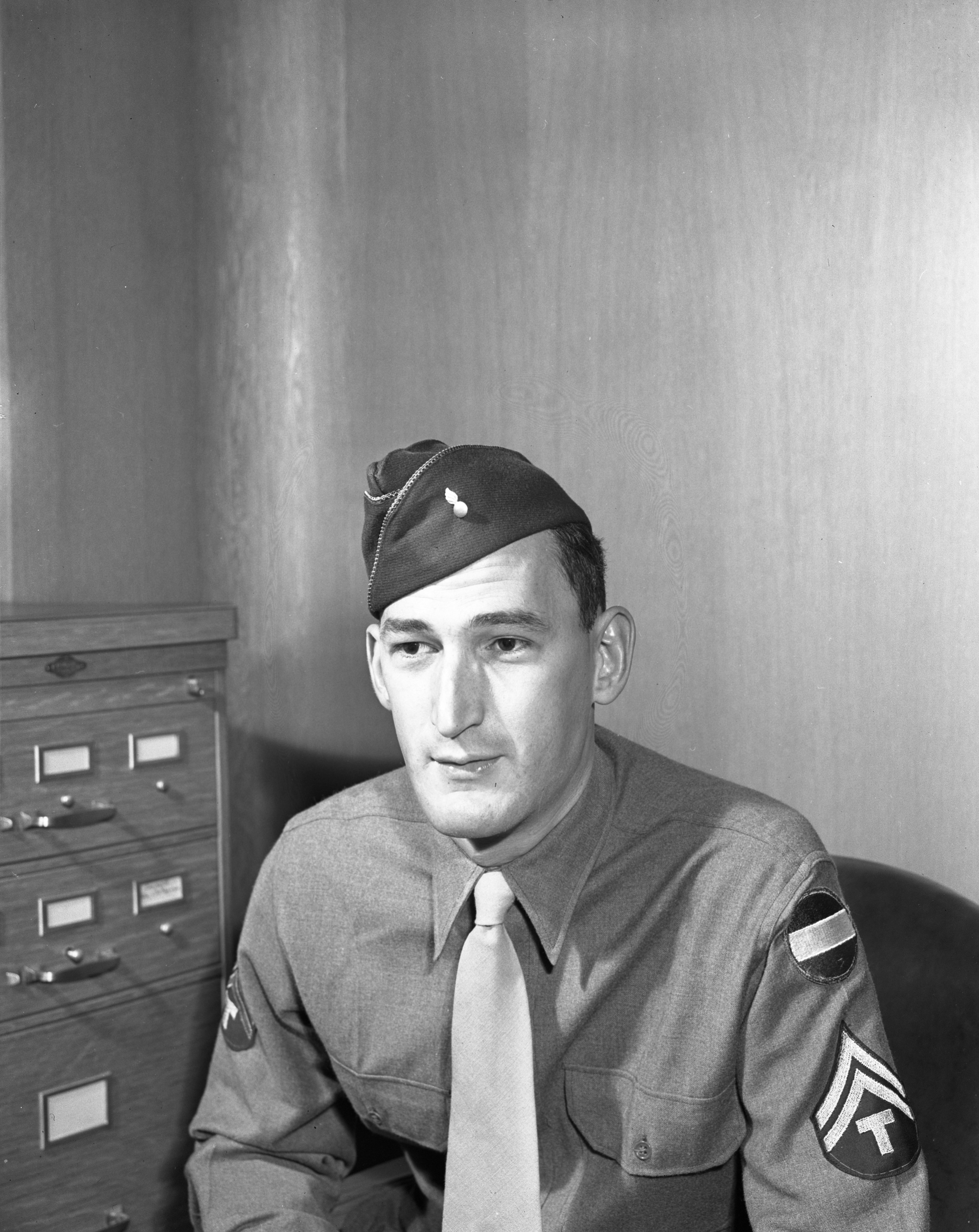 "Corporal Adolph ""Boober"" Wenk, US Army, October 1943 image"