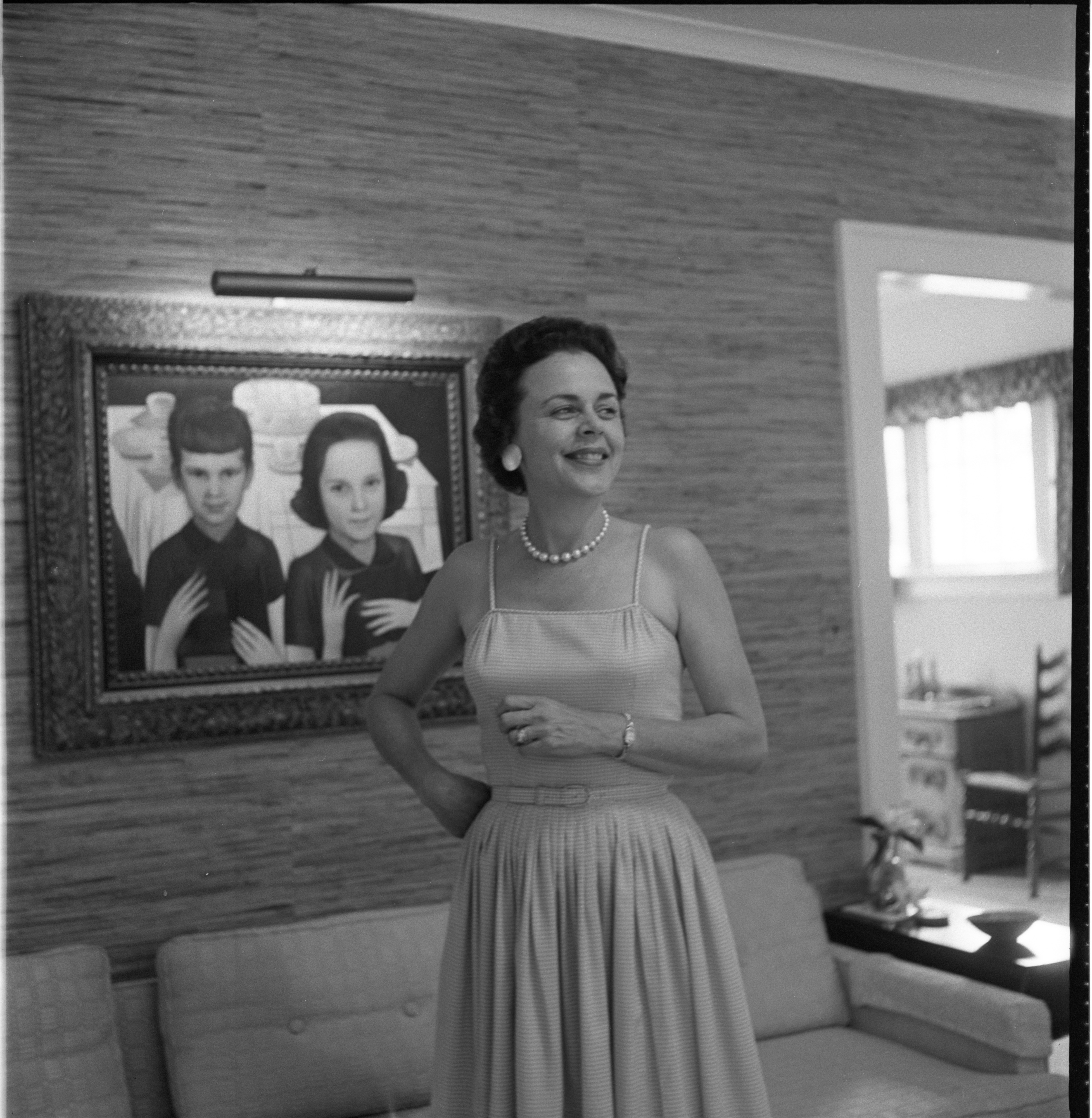 Phyllis Wright At Home, July 1961 image