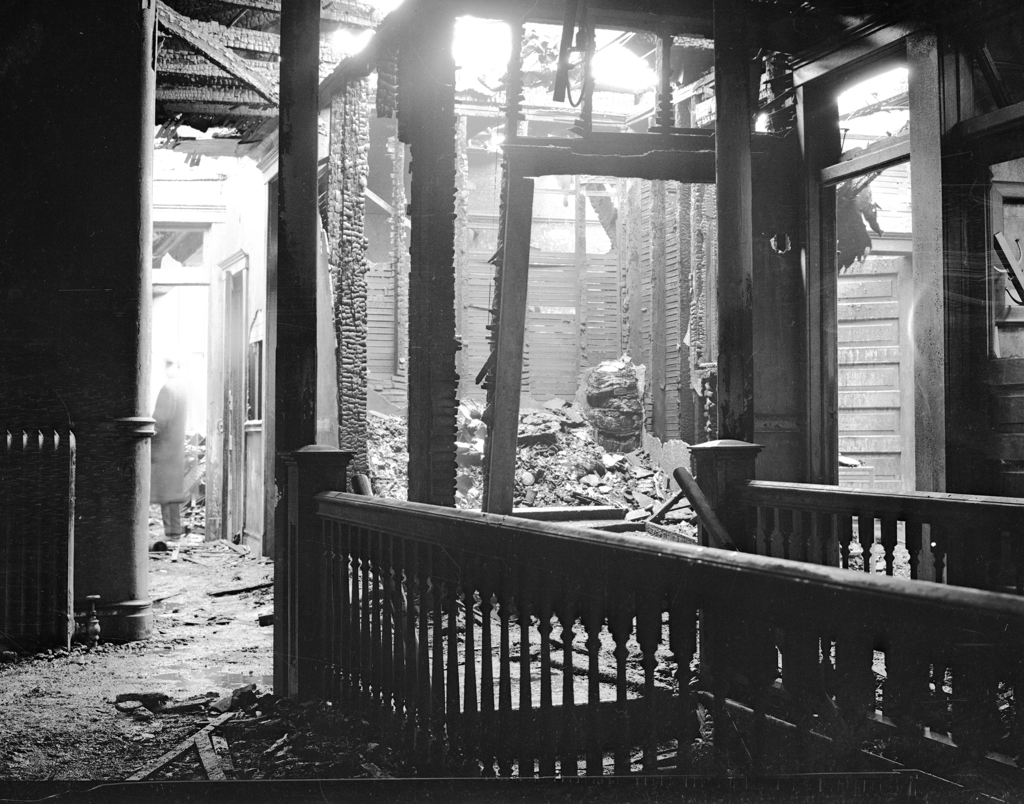 State St. Fire Causes $100,000 Damage, January 1936 image