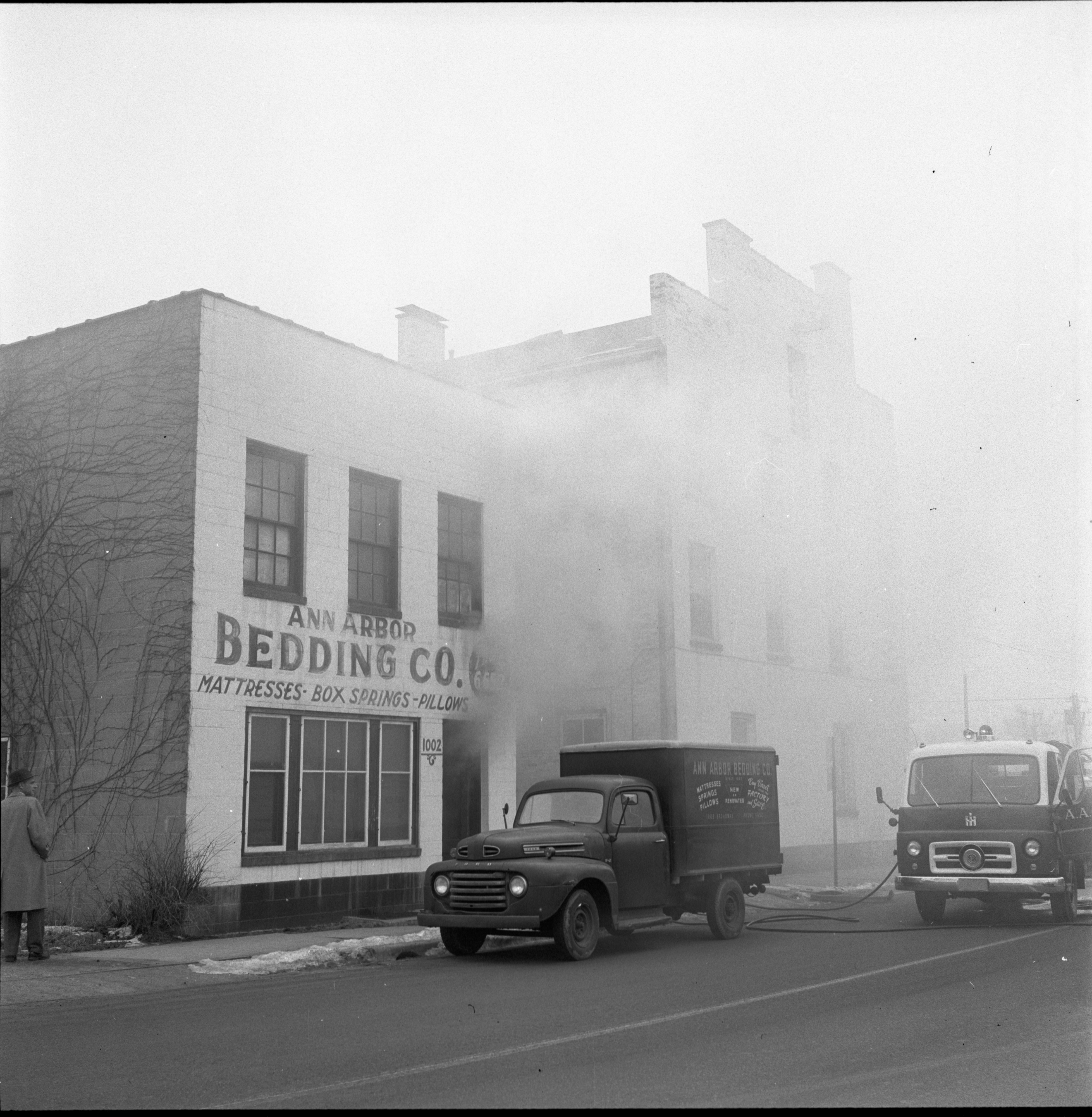 Fire At The Ann Arbor Bedding Co., February 1957 image