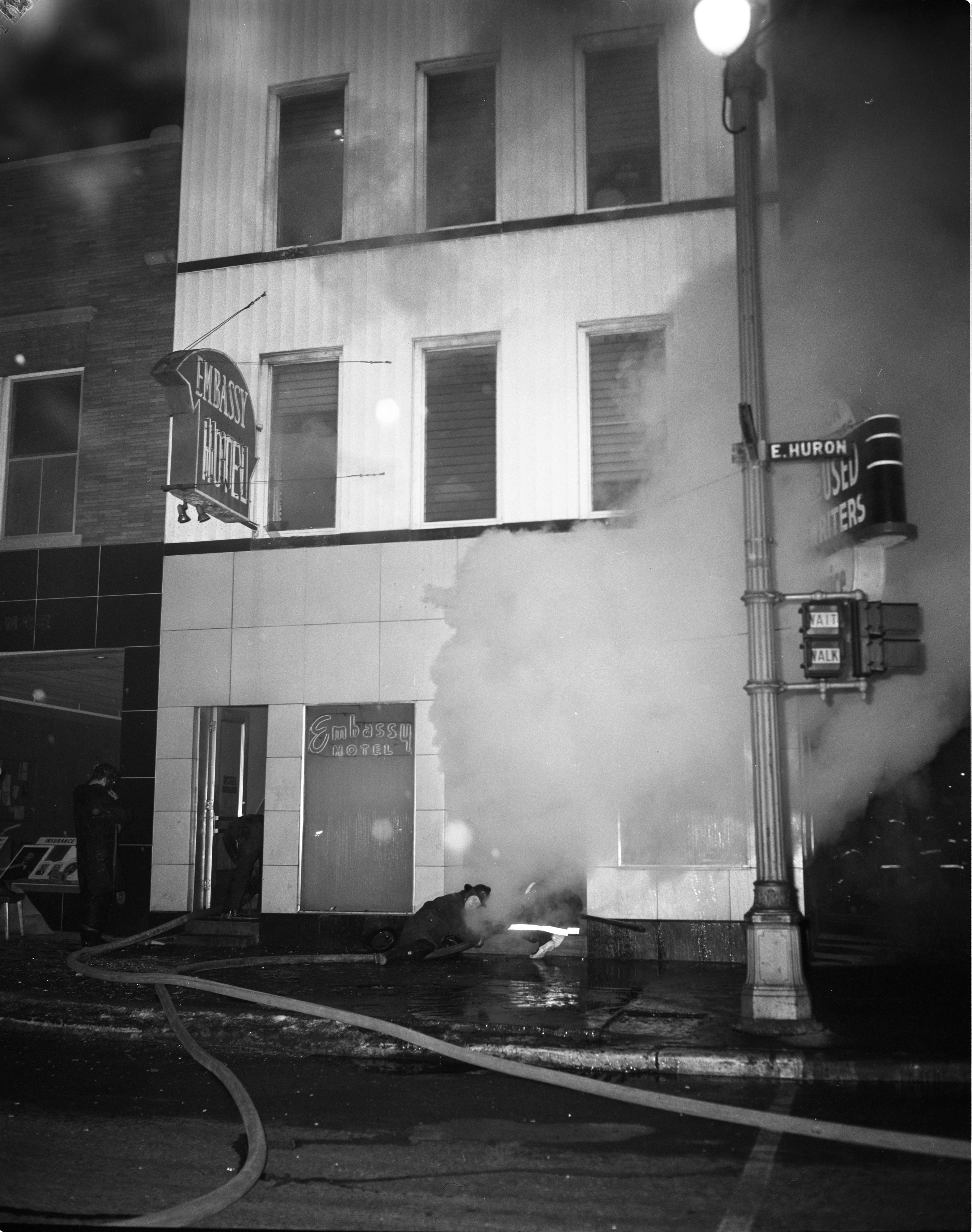 Fire At Dawn at the Embassy Hotel, February 1961 image