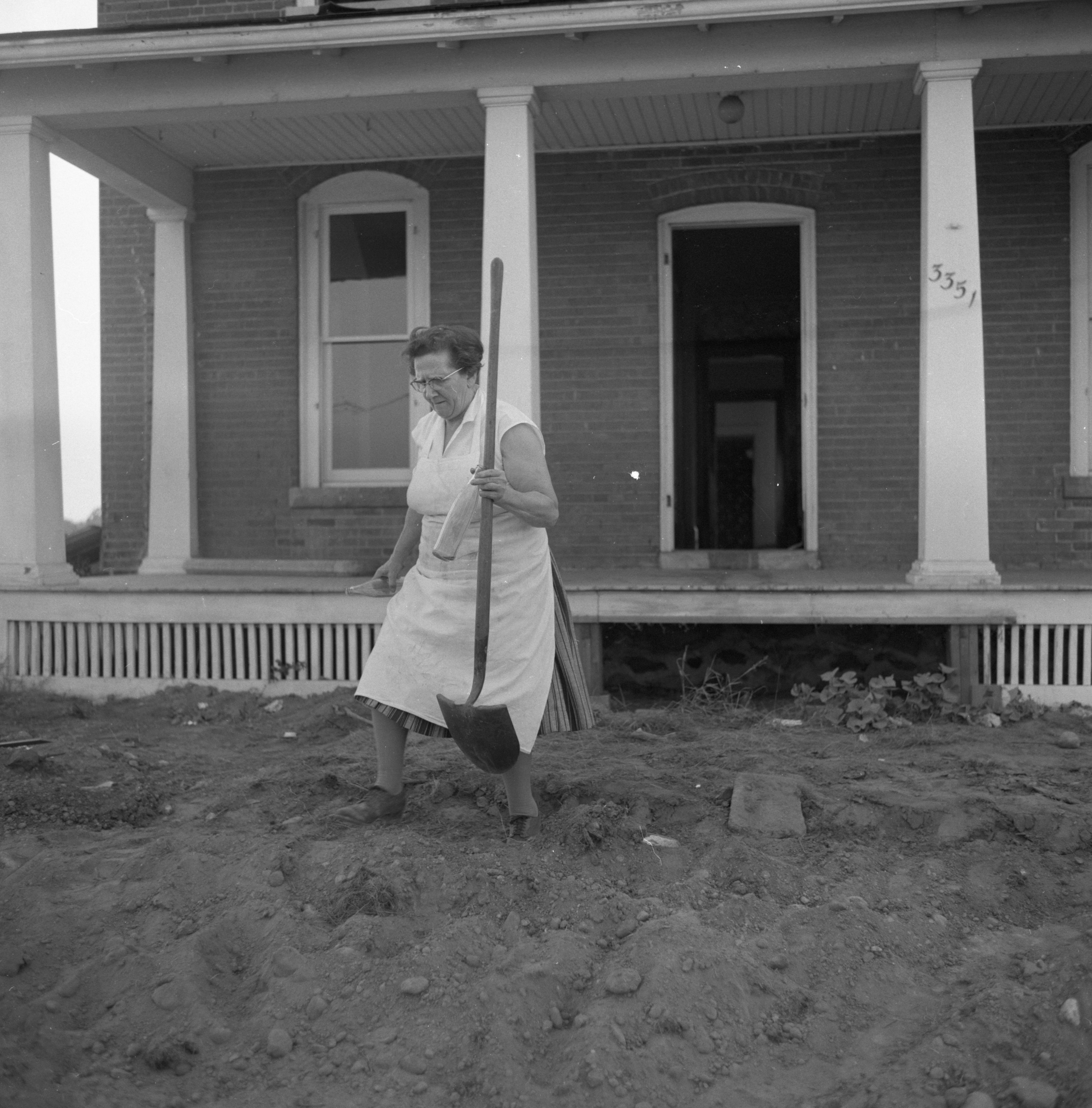 Salvaging Items From The Kappler Home At 3351 Pontiac Road, July 1961 image