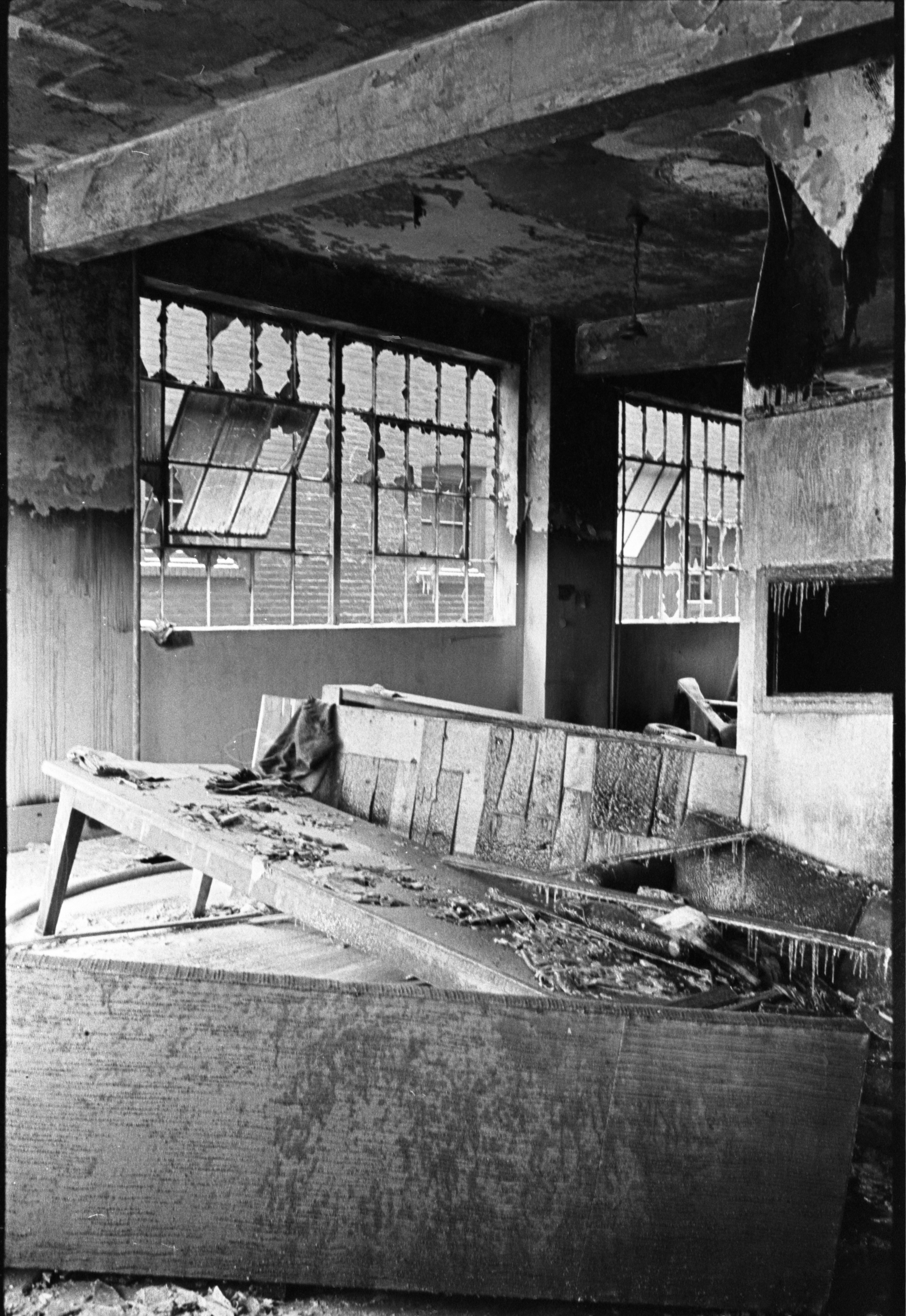 Community Center At 502 E. Washington After Fire, December 16, 1972 image