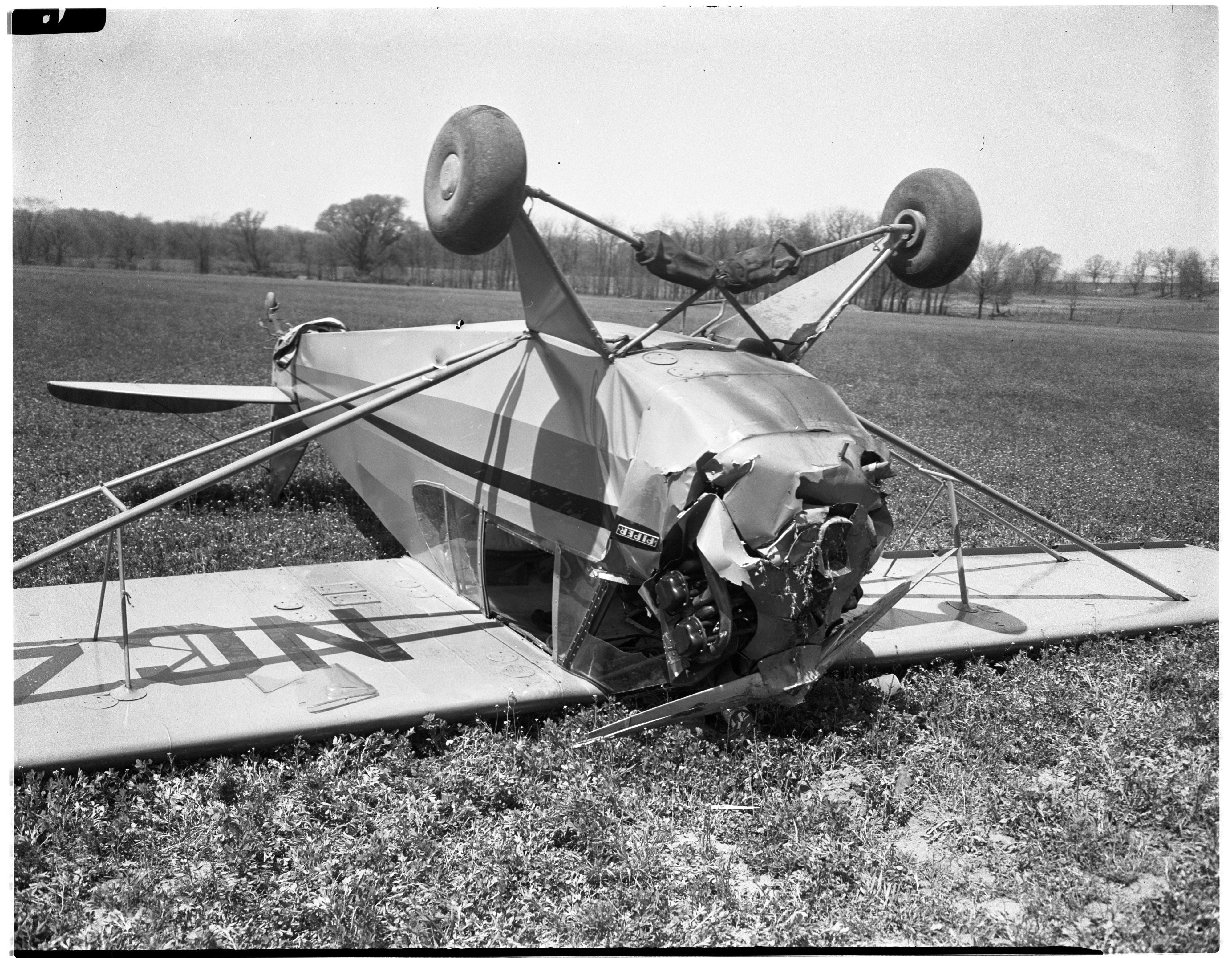 Argus Camera President and Pilot Injured In Plane Crash, April 1946 image