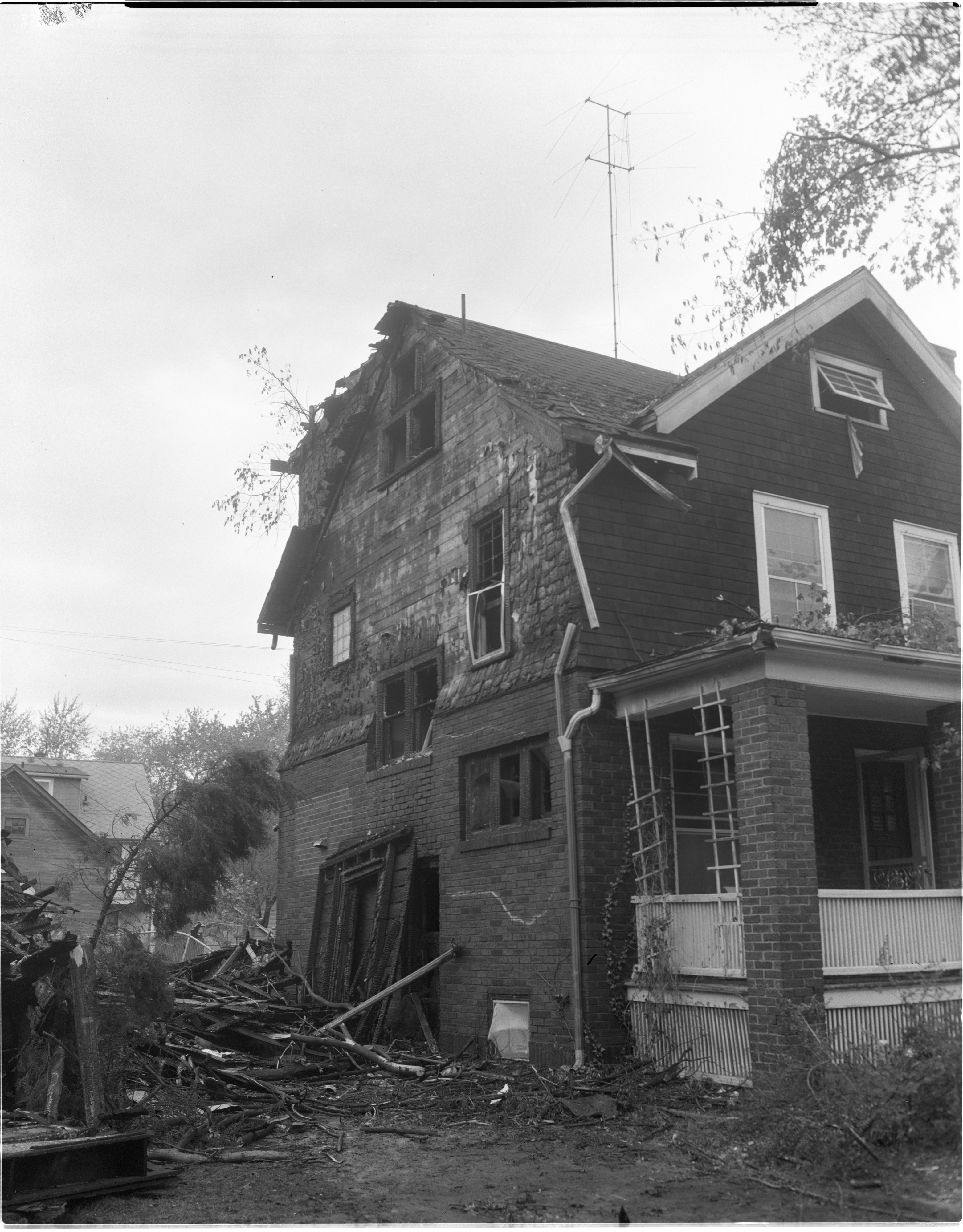 849 Brookwood Place Damaged By Fire During The Windstorm, May 1959 image