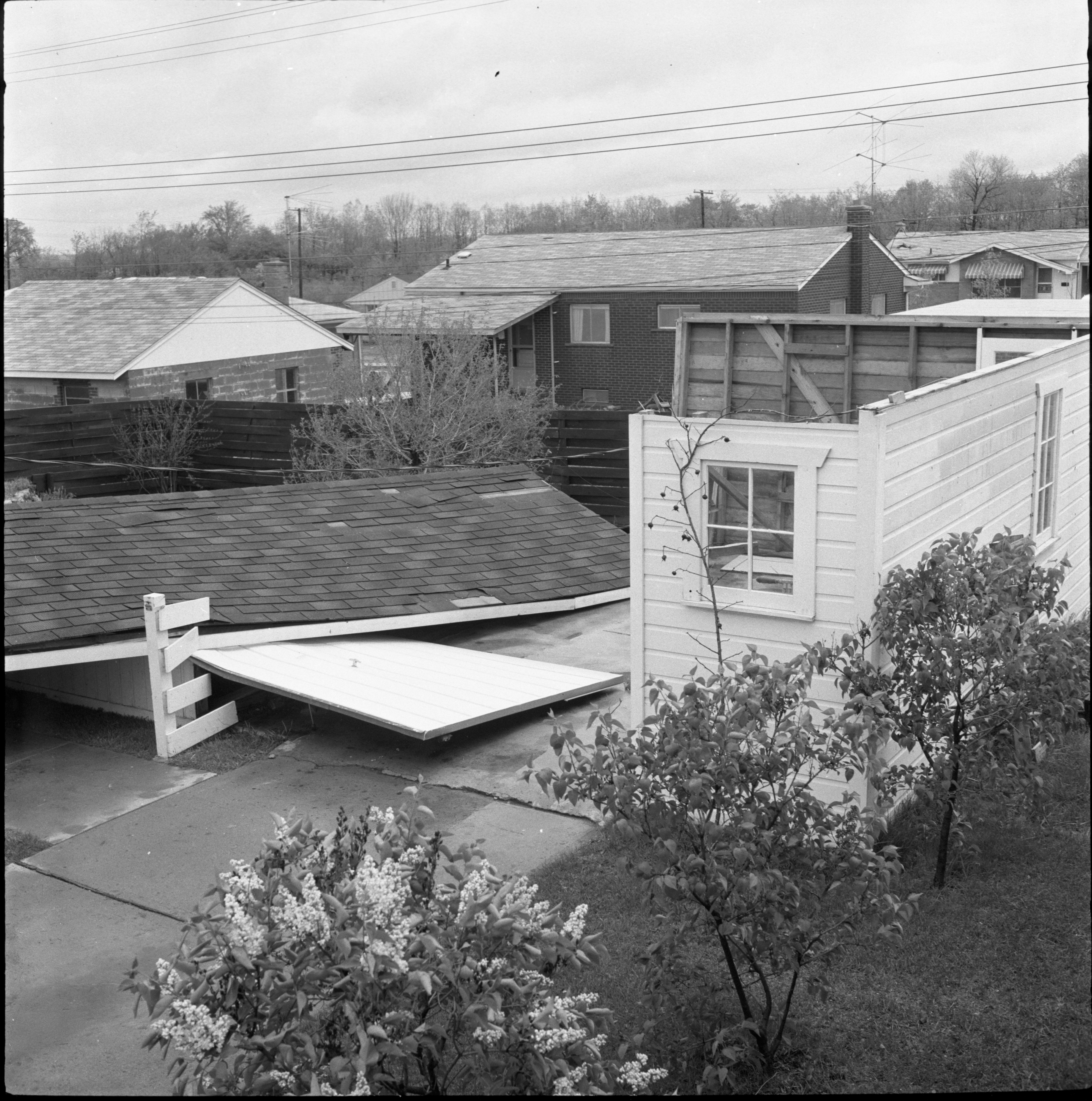 Remains Of A Garage At 1327 Kay Parkway Disassembled By The Windstorm, May 1959 image