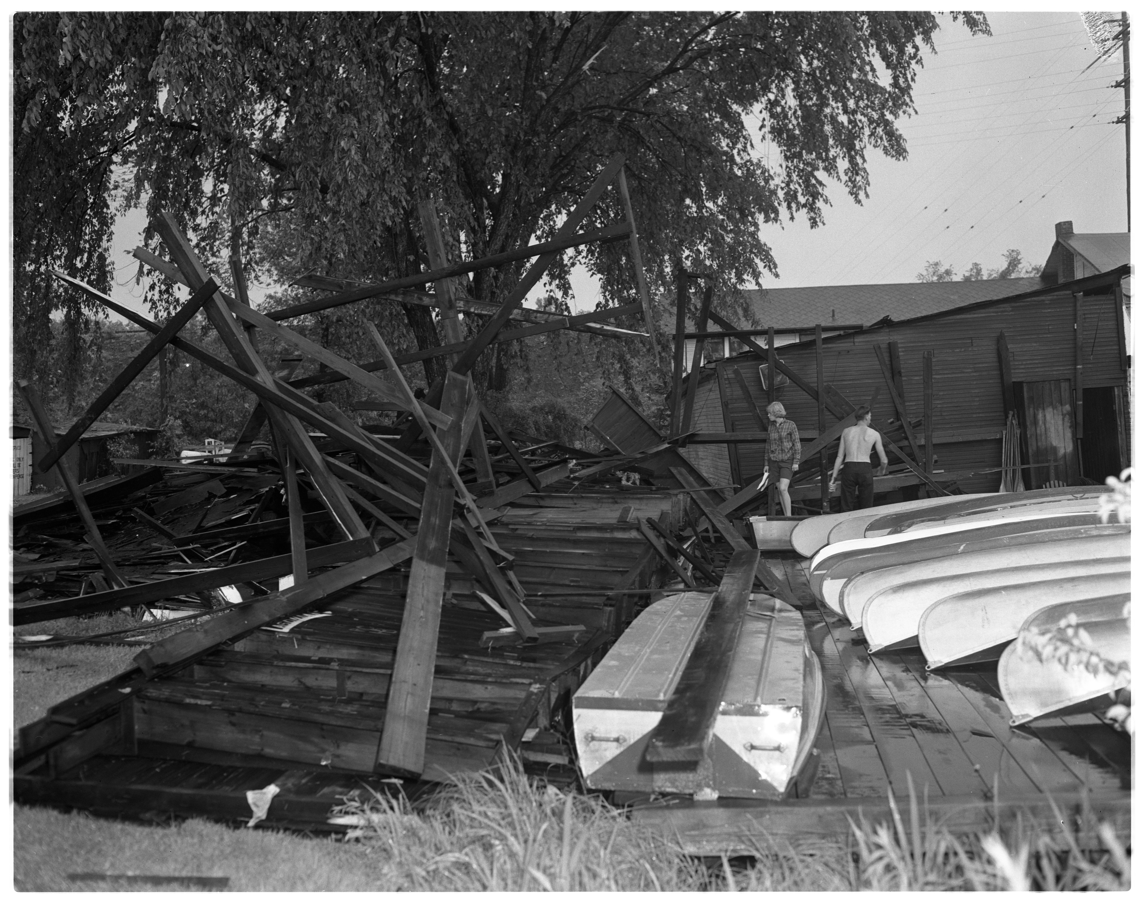 Storm Damage At Wirth's Canoe Livery, June 1964 image