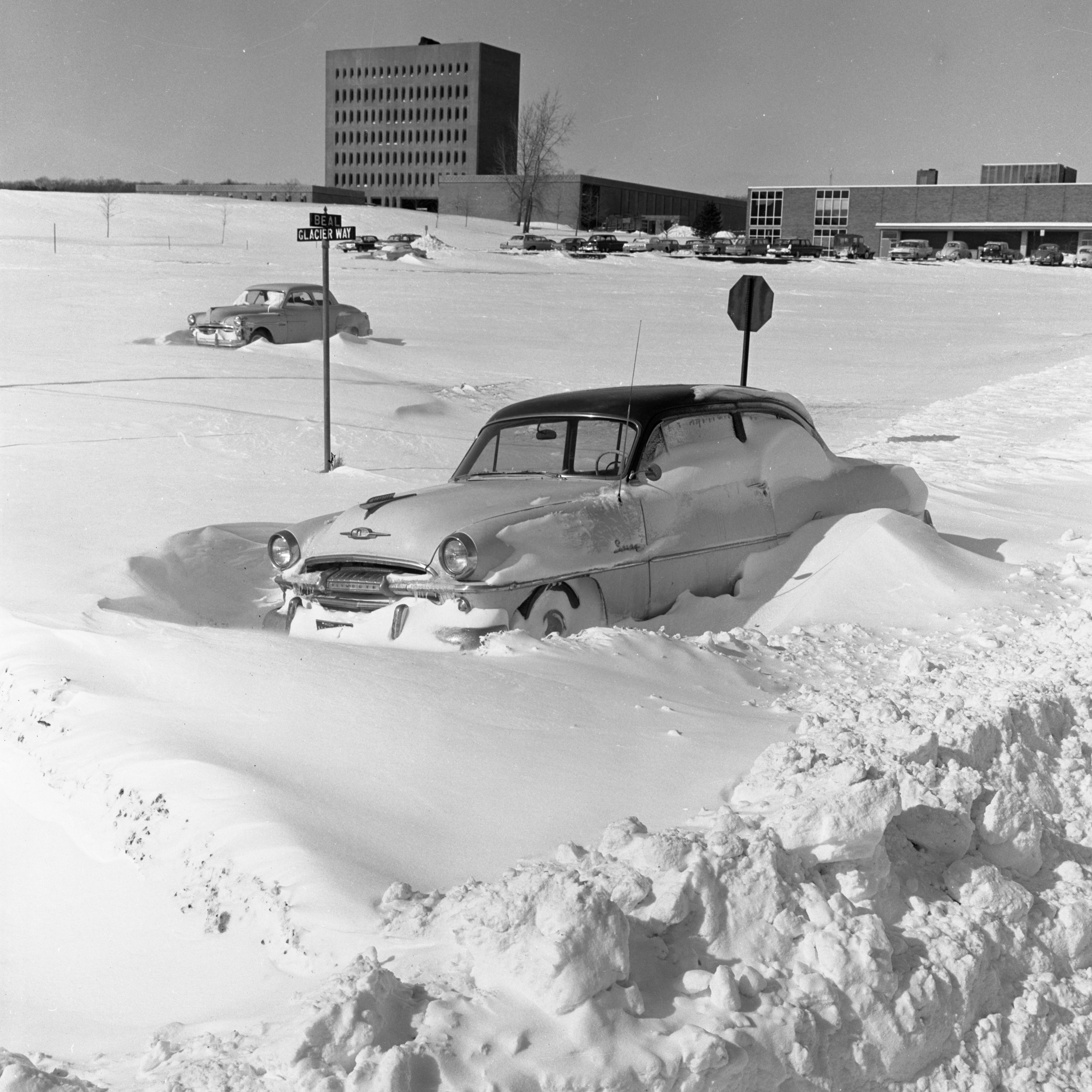 Image from Car Abandoned On North Campus After Record-Breaking Snow Storm, February 1965