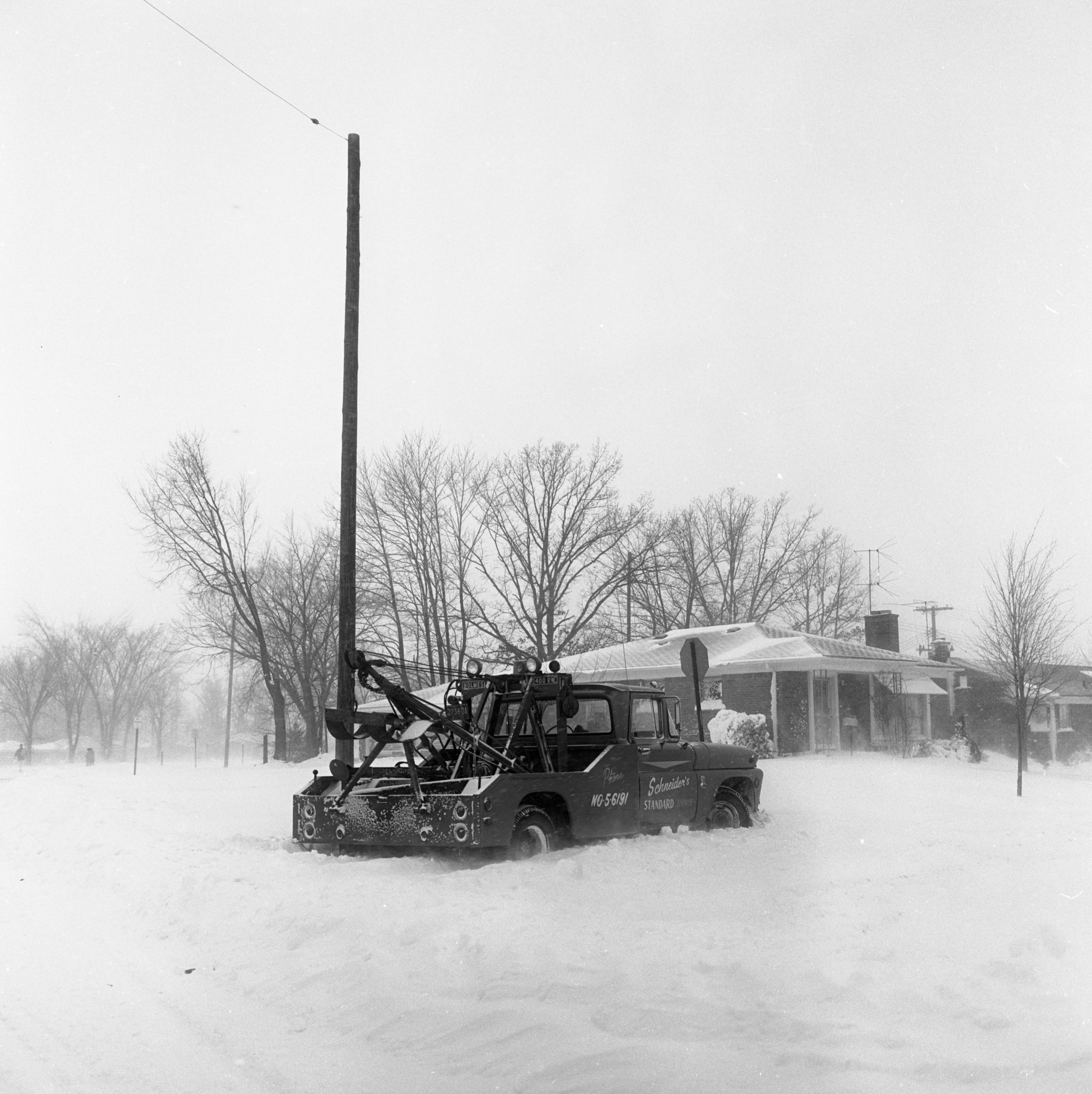 Tow Truck Stuck On Arella Blvd After Record-Breaking Snowfall, February 1965 image