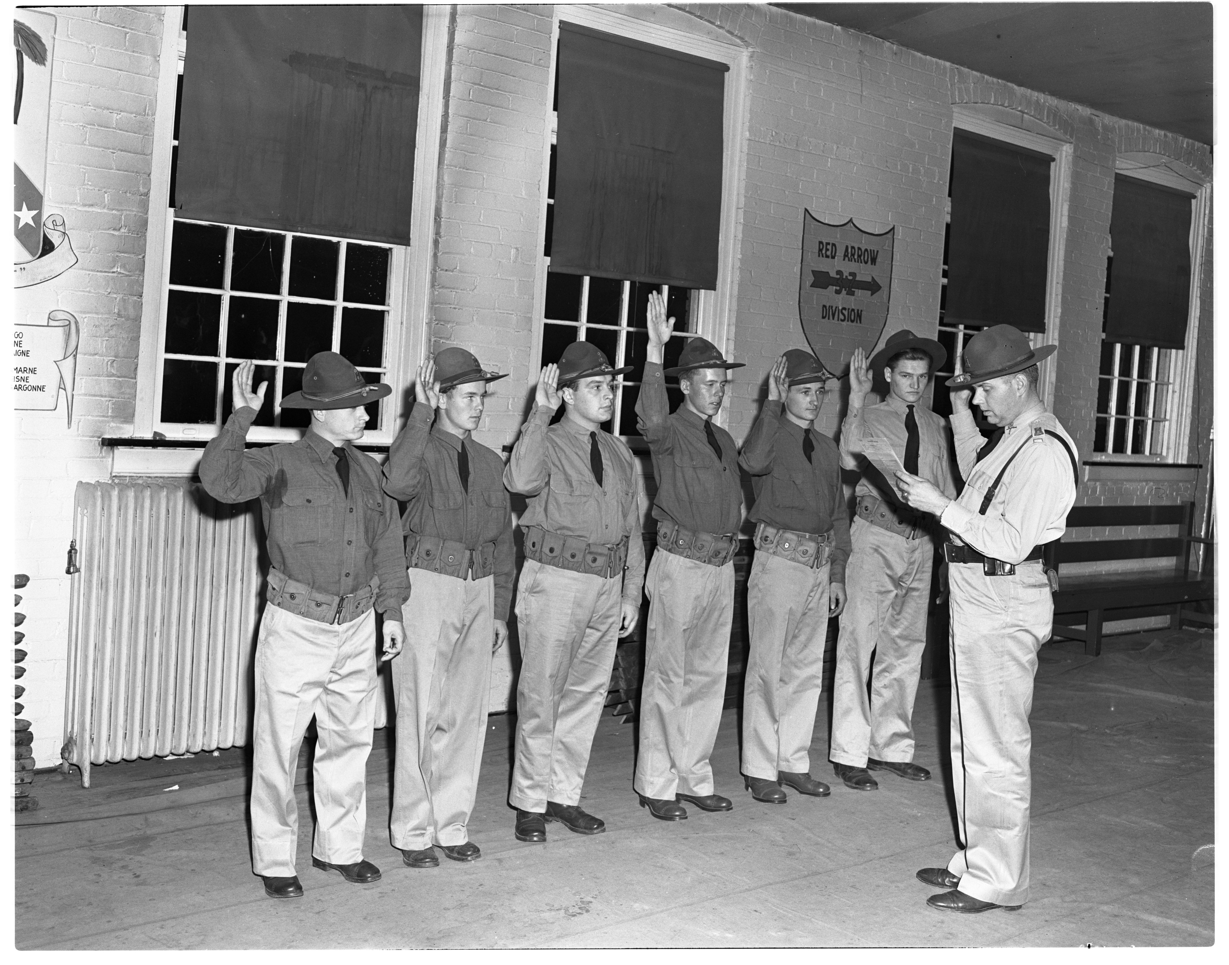 Image from Company K, Swearing In, October 1940
