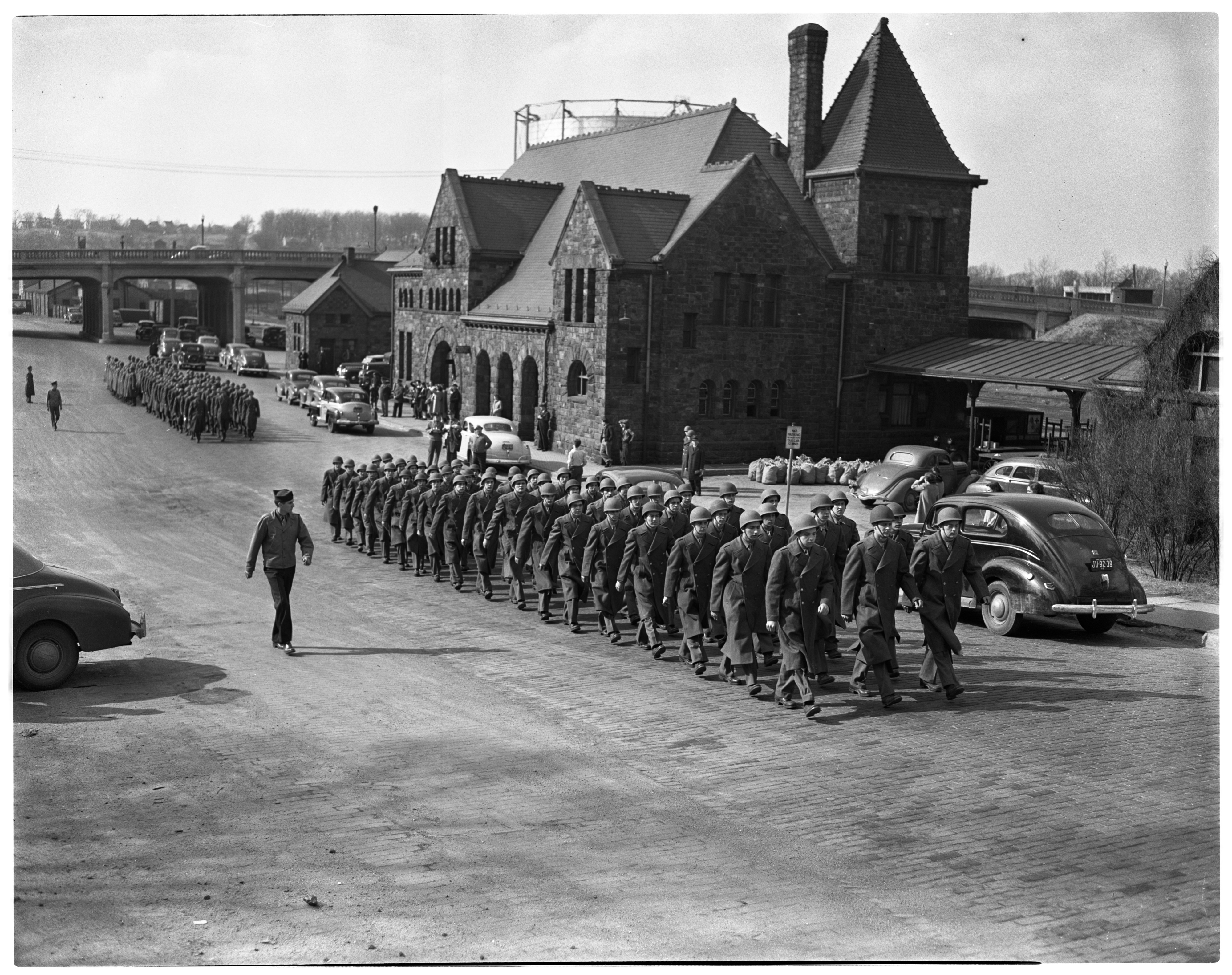 ROTC Returns as Inducted Soldiers, March 1943 image
