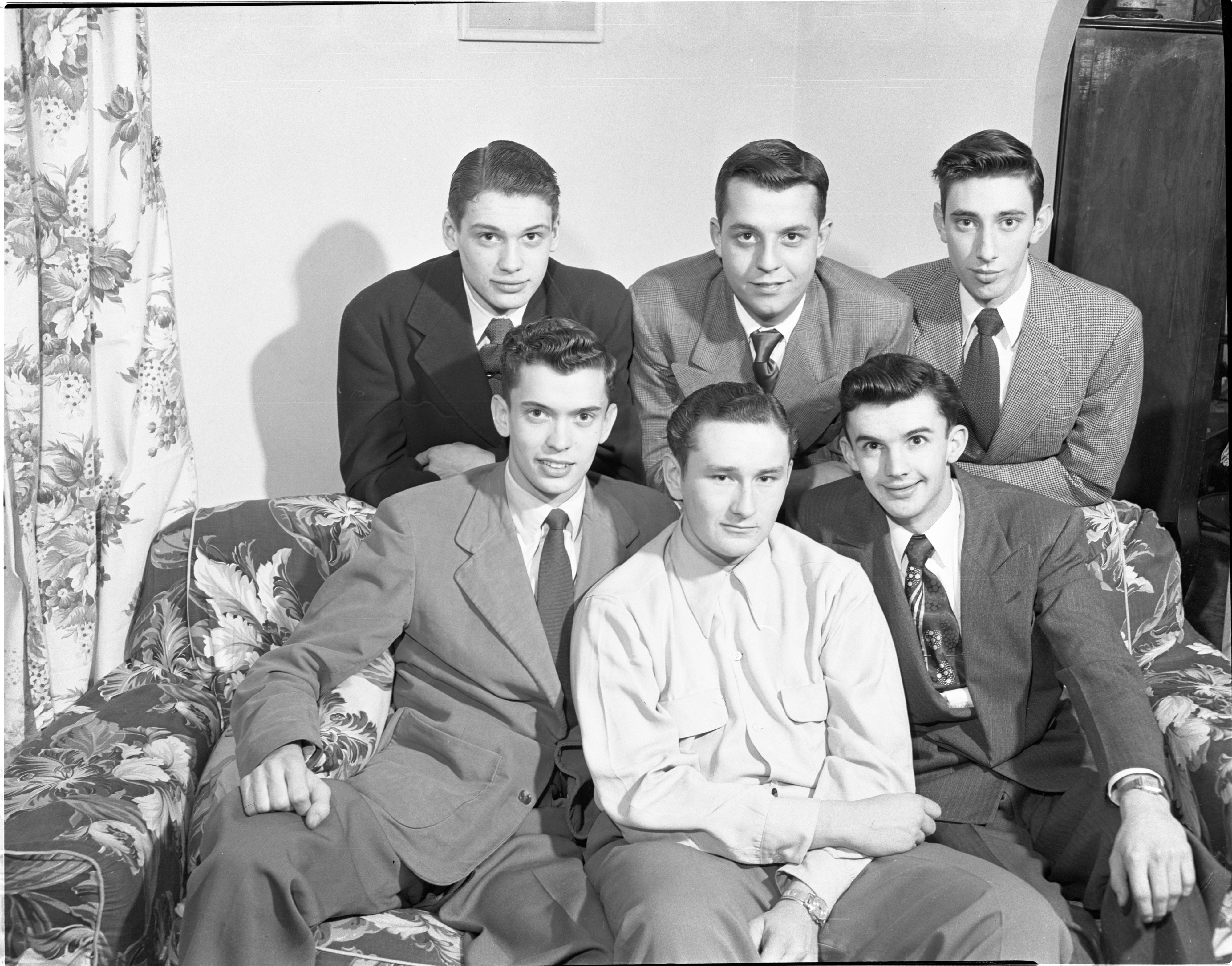 Six Friends Enlisted Together In U. S. Air Force, January 1951 image