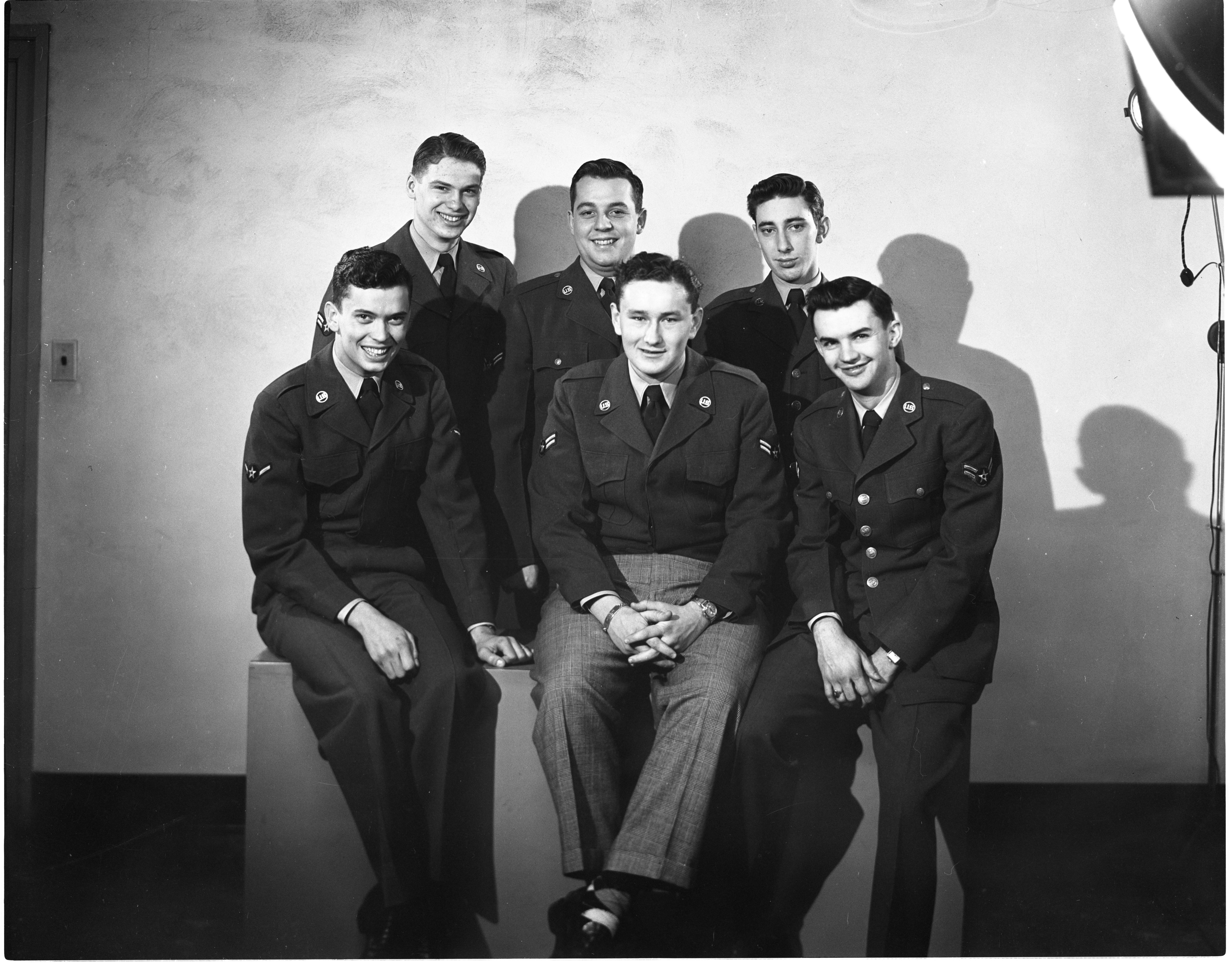 Six Friends - One Year After Enlisting Together In U. S. Air Force, January 1952 image