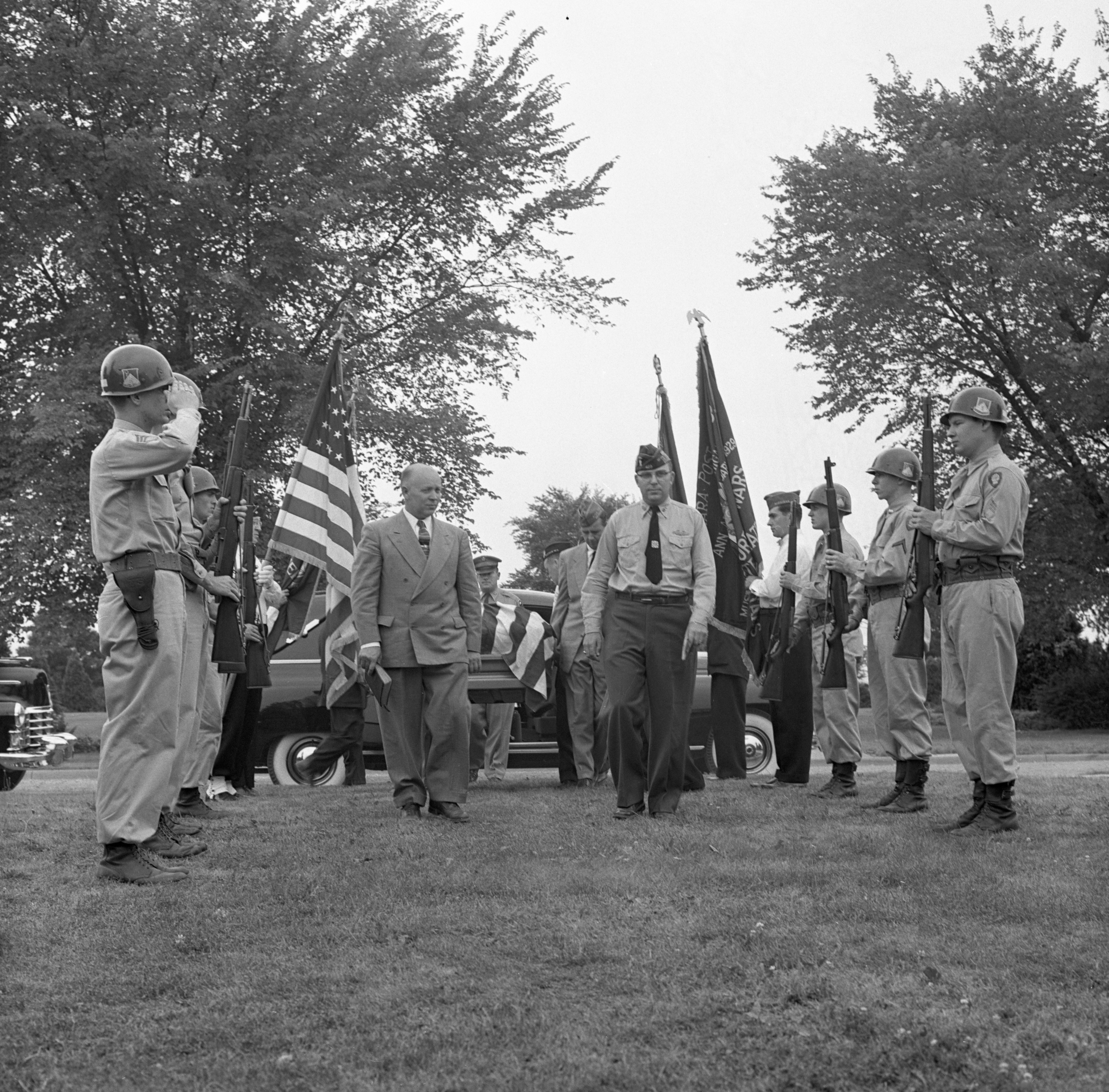 Military Burial Of Pfc. Robert Schroeder - Ann Arbor's First Korean War Casualty, July 1954 image