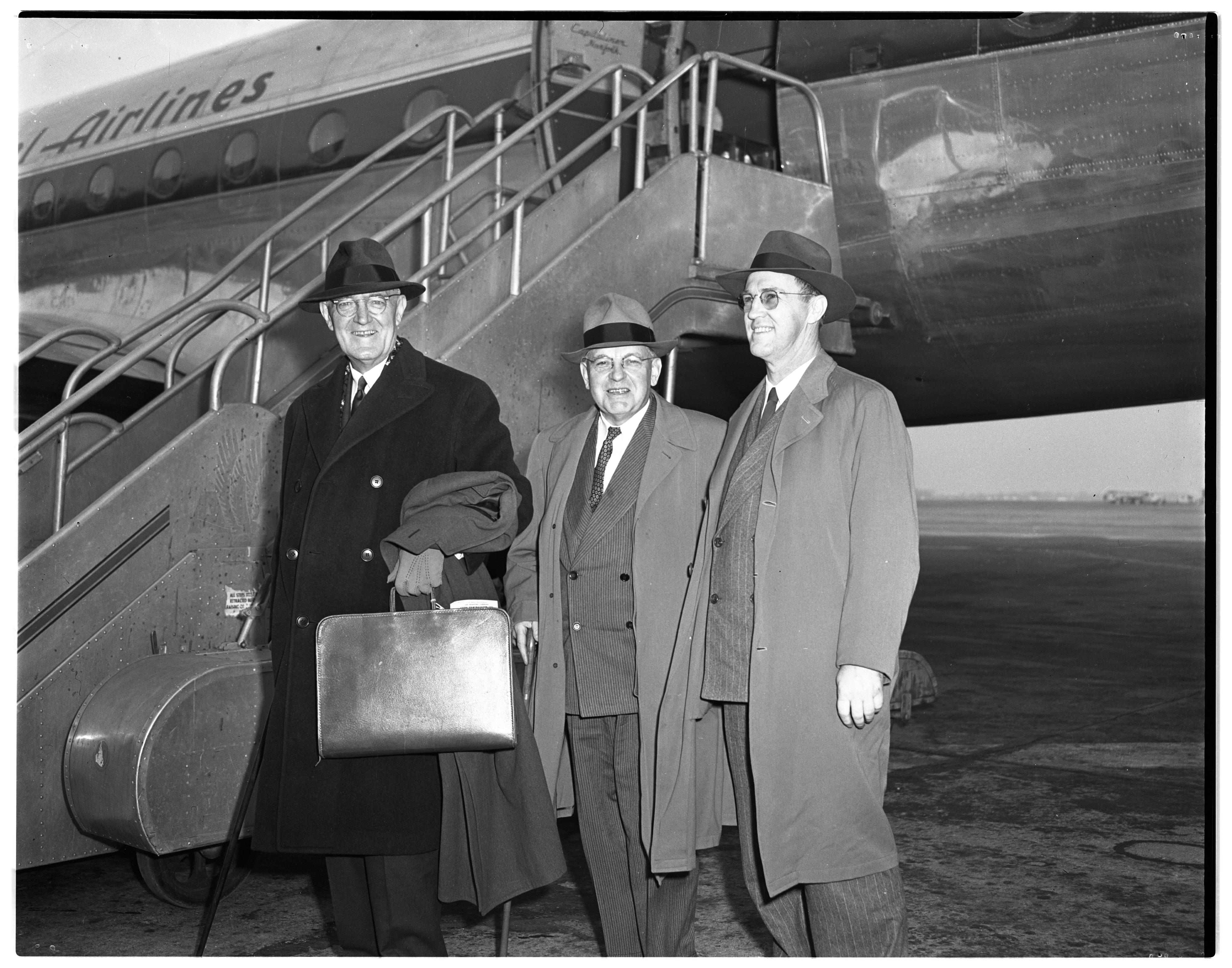 George J. Burke, Ann Arbor attorney, returns from war crimes trials in Germany, February 27, 1948 image