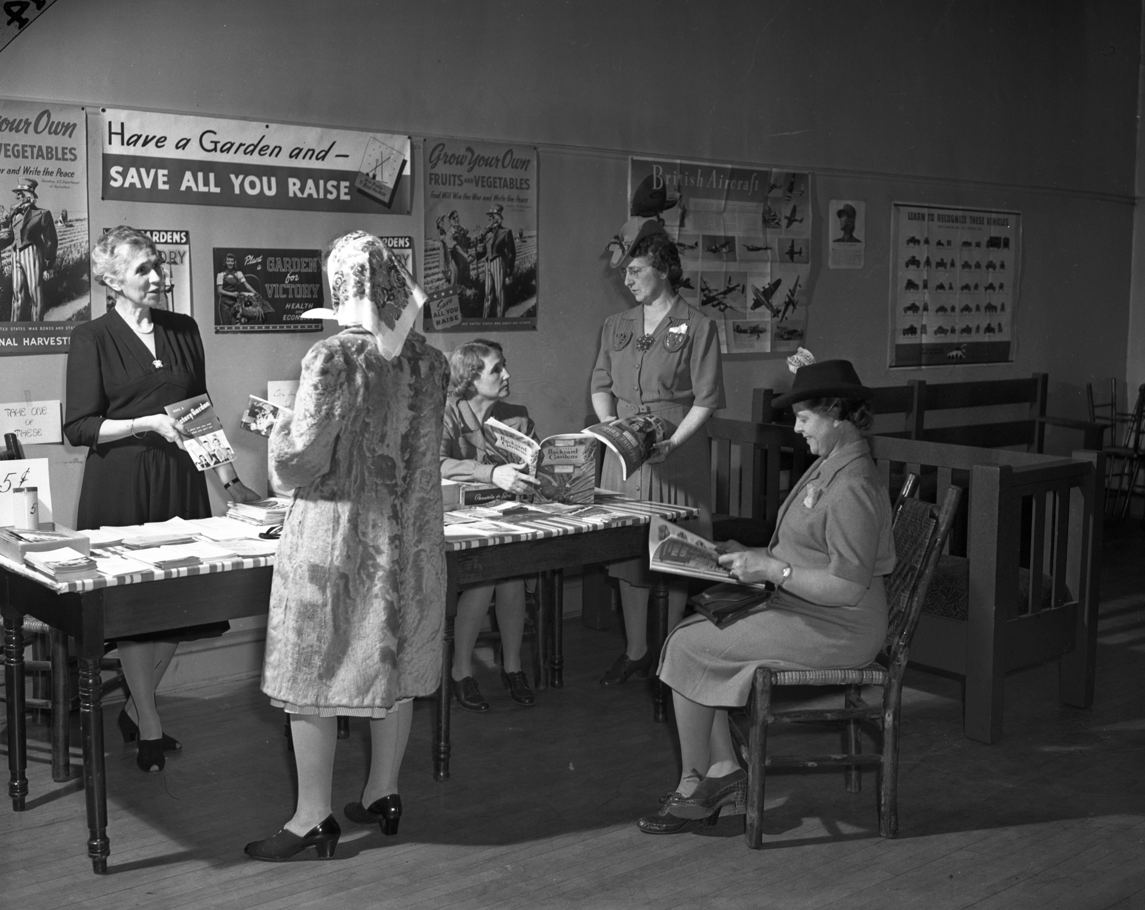 CDVO: Victory Garden Reading Room, April 1943 image